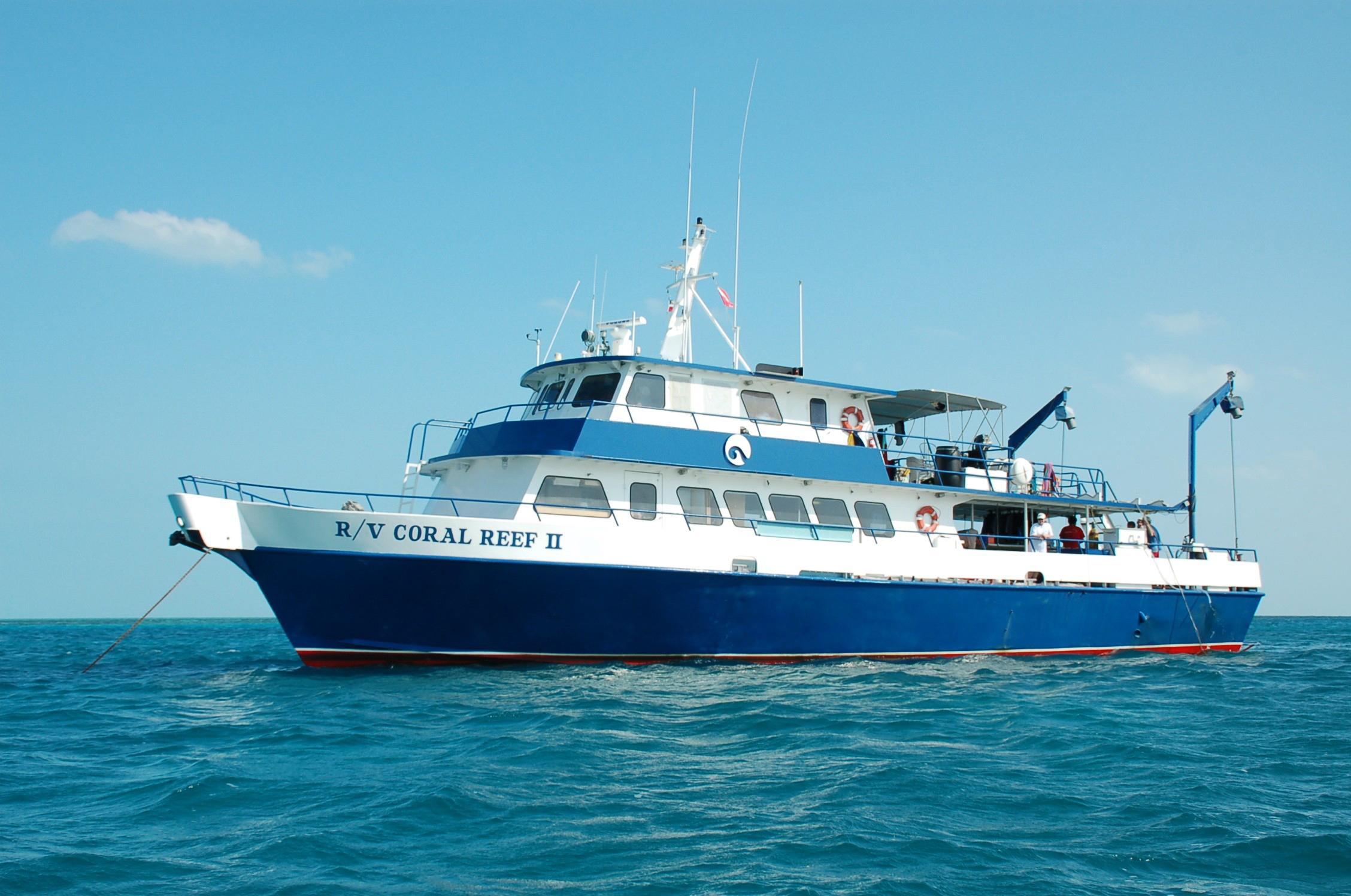 The Shedd Aquarium's Coral Reef II research ship.