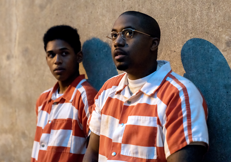 Kevin Harrison Jr. as Steve Harmon, Nasir 'Nas' Jones as Raymond'Sunset' Green in Monster
