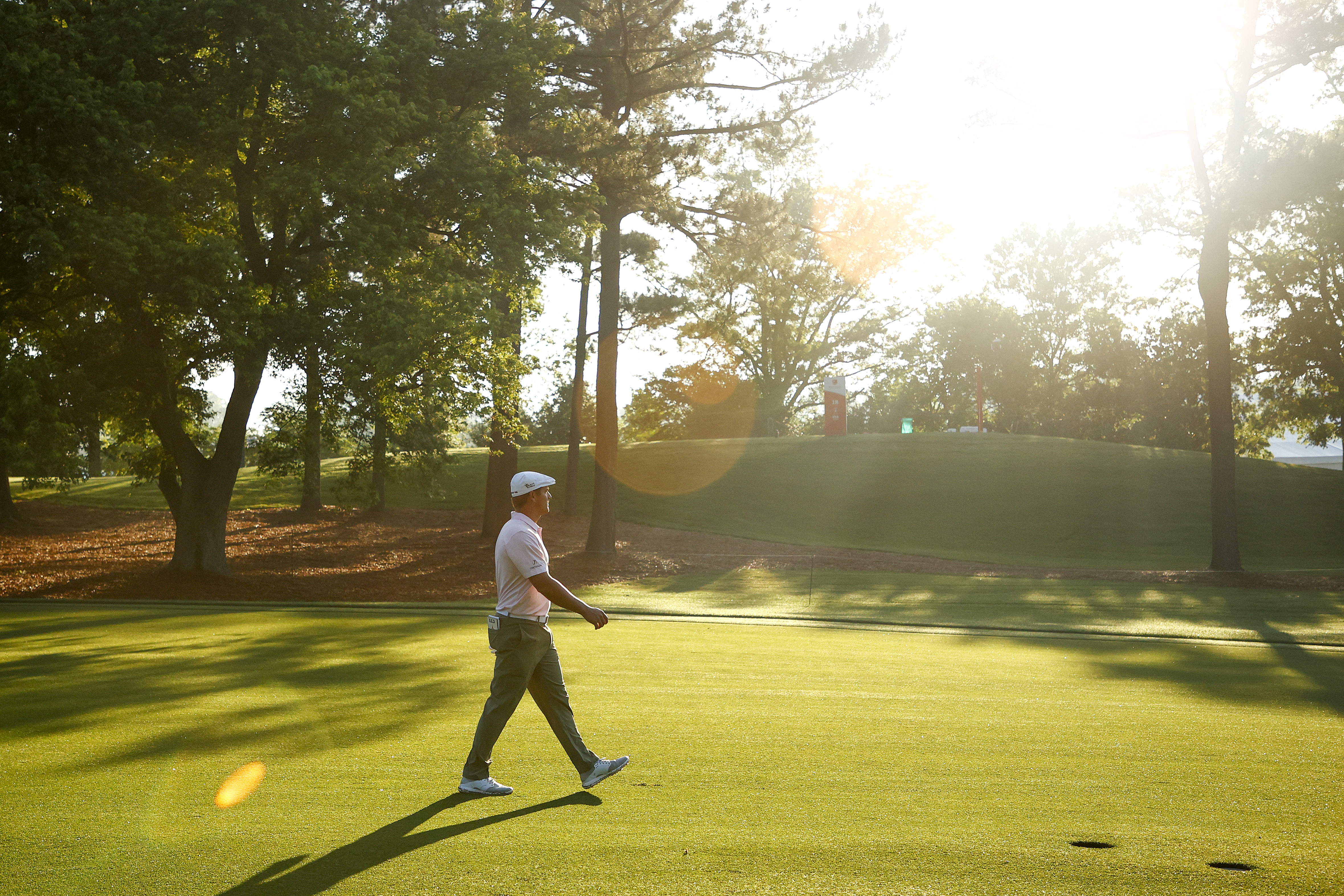 Bryson DeChambeau of the United States walks the tenth hole during the second round of the 2021 Wells Fargo Championship at Quail Hollow Club on May 07, 2021 in Charlotte, North Carolina.