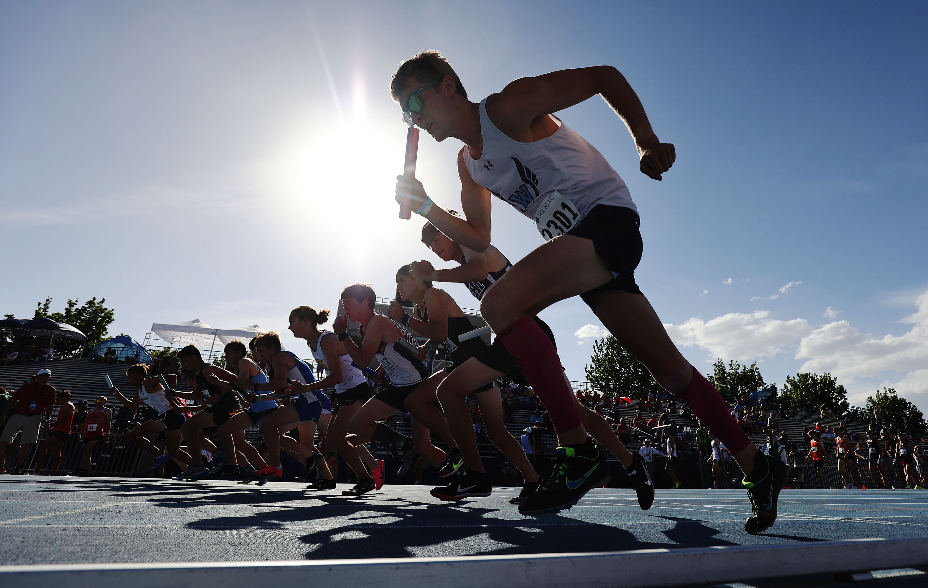 Runners compete during the BYU Invitational in Provo on Friday, May 7, 2021.