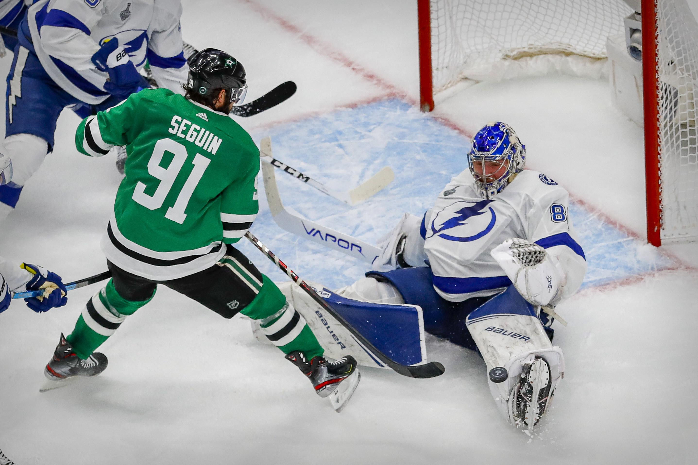 NHL: Stanley Cup Final-Tampa Bay Lightning at Dallas Stars