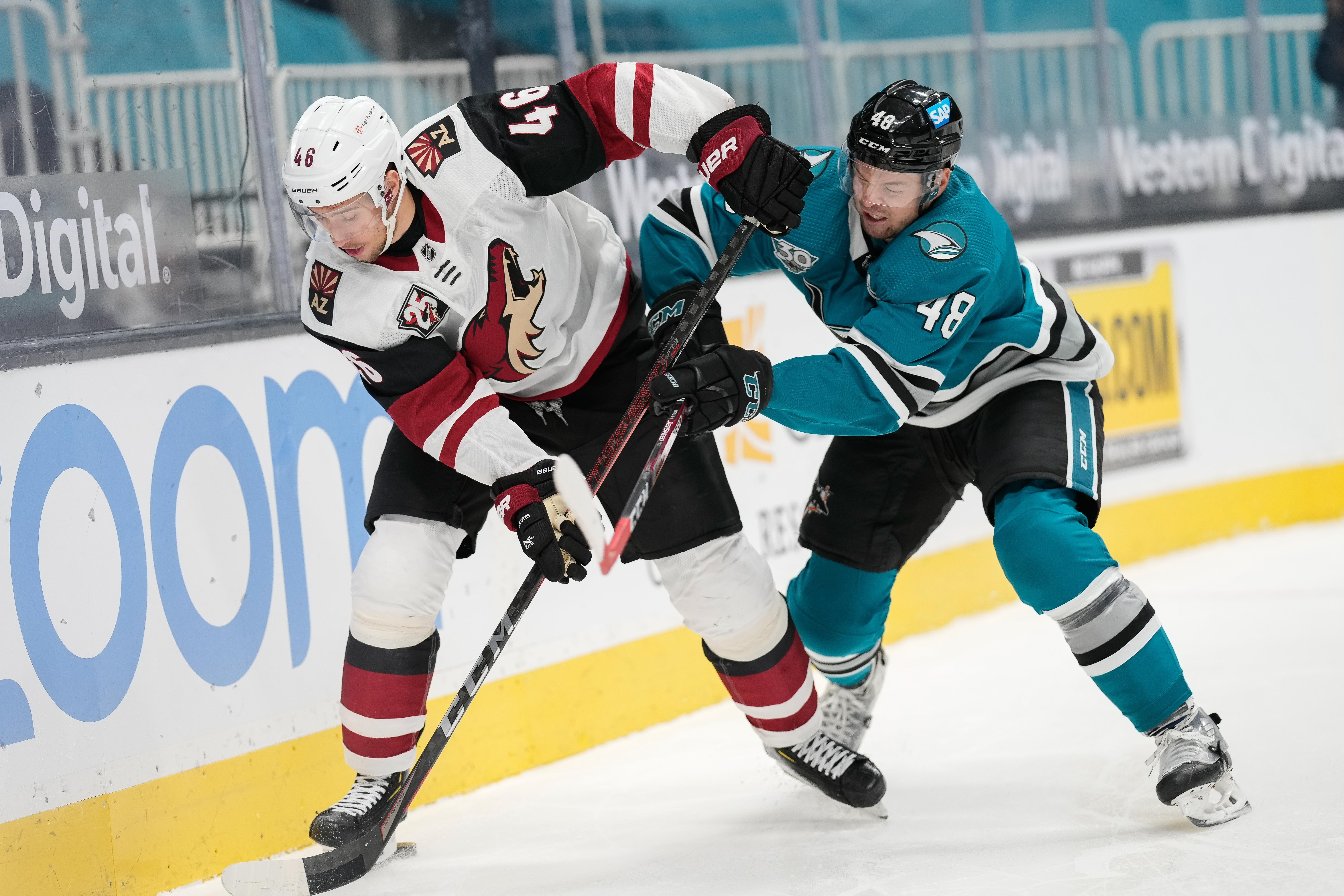 NHL: Arizona Coyotes at San Jose Sharks