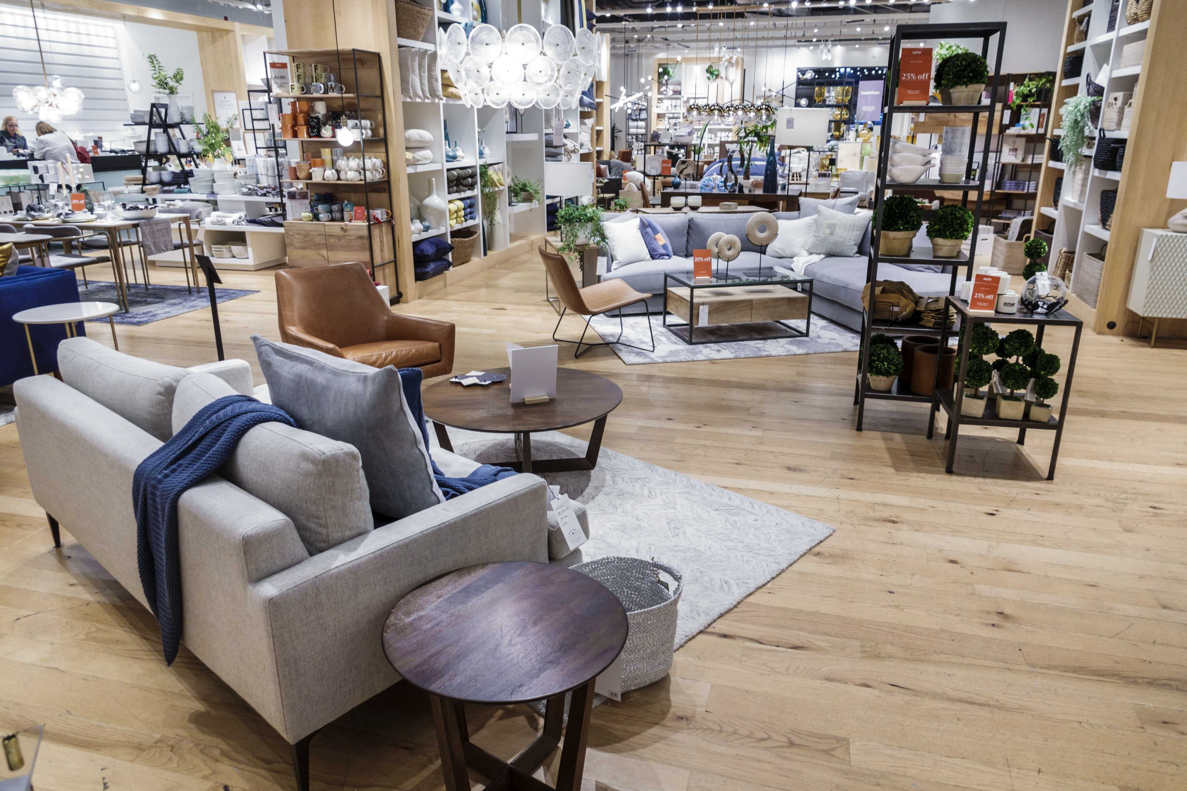 A West Elm furniture showroom.