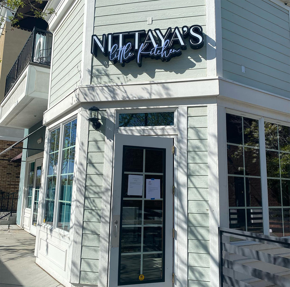 The exterior of Nittaya's Little Kitchen, opening soon in Centennial.
