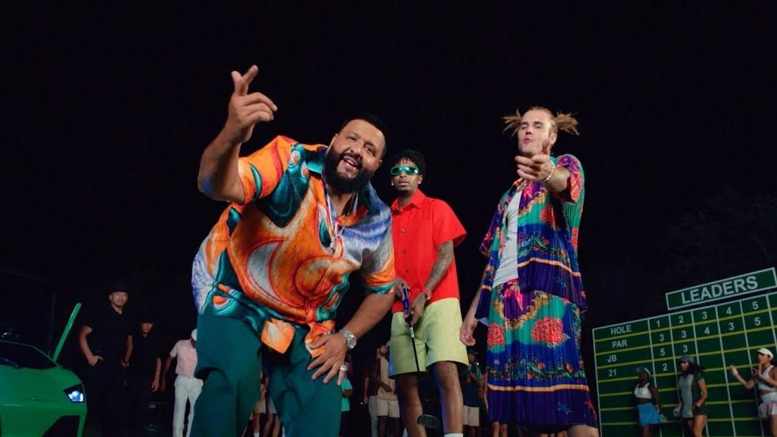 DJ Khaled, 21 Savage, and Justin Bieber