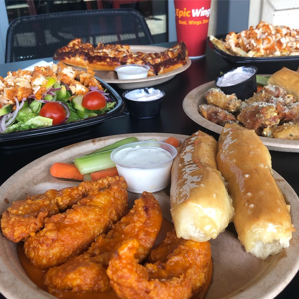 Wings, pizza sticks and loaded fries, on the Epic Wings menu headed to Las Vegas.
