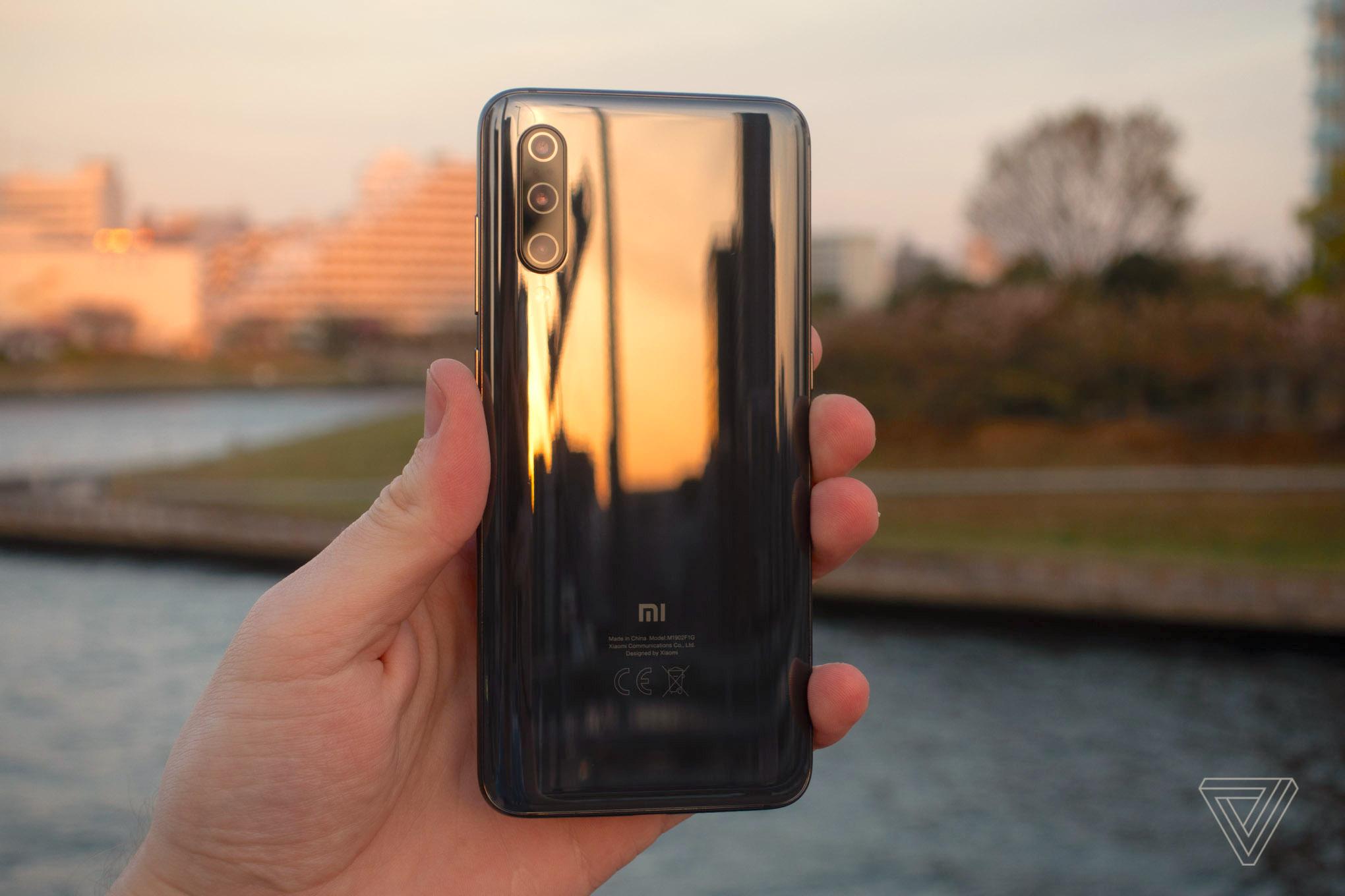 Xiaomi's Mi 9, featuring a Mi logo on the back.