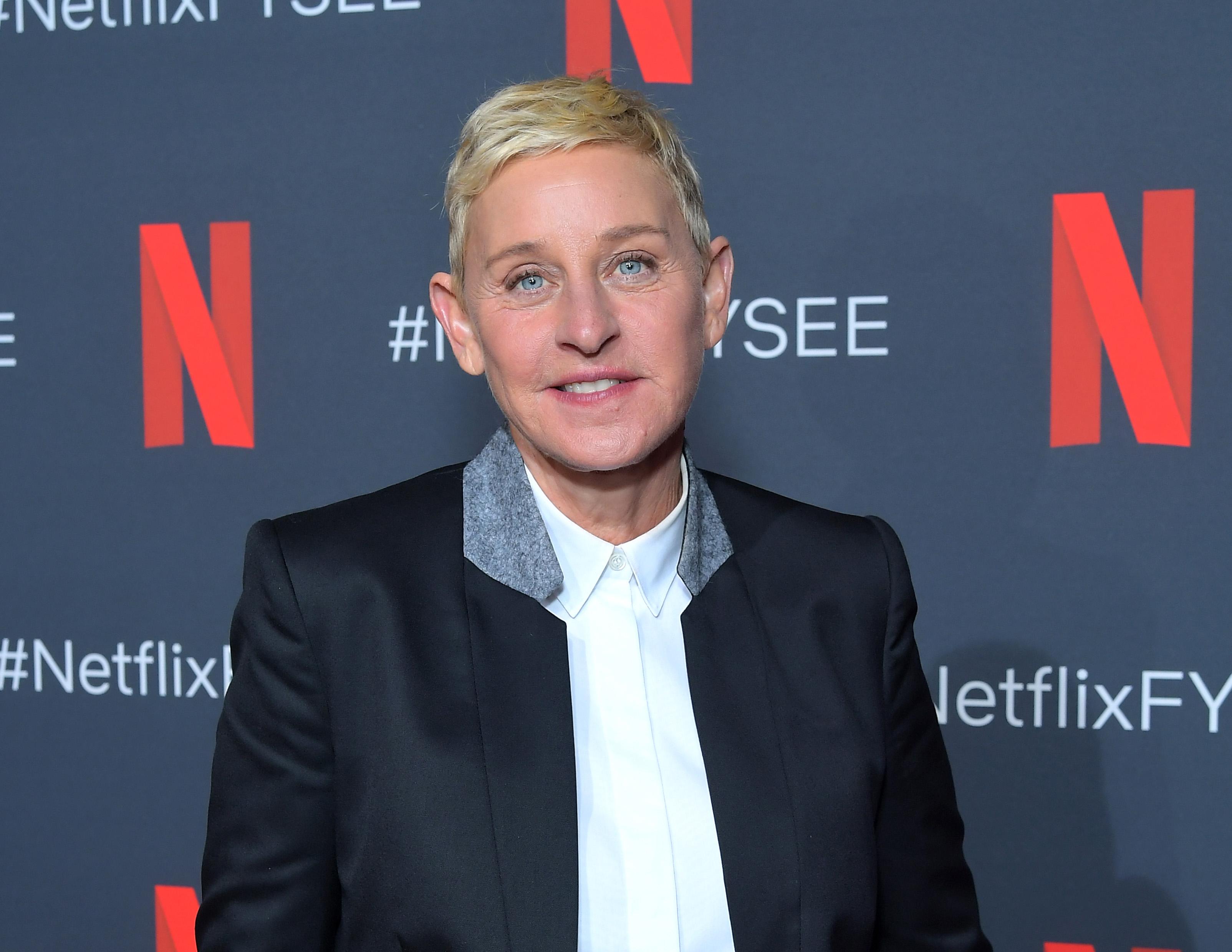 """Ellen DeGeneres attends Netflix's """"Ellen DeGeneres: Relatable"""" screening at Raleigh Studios on May 08, 2019 in Los Angeles, California."""