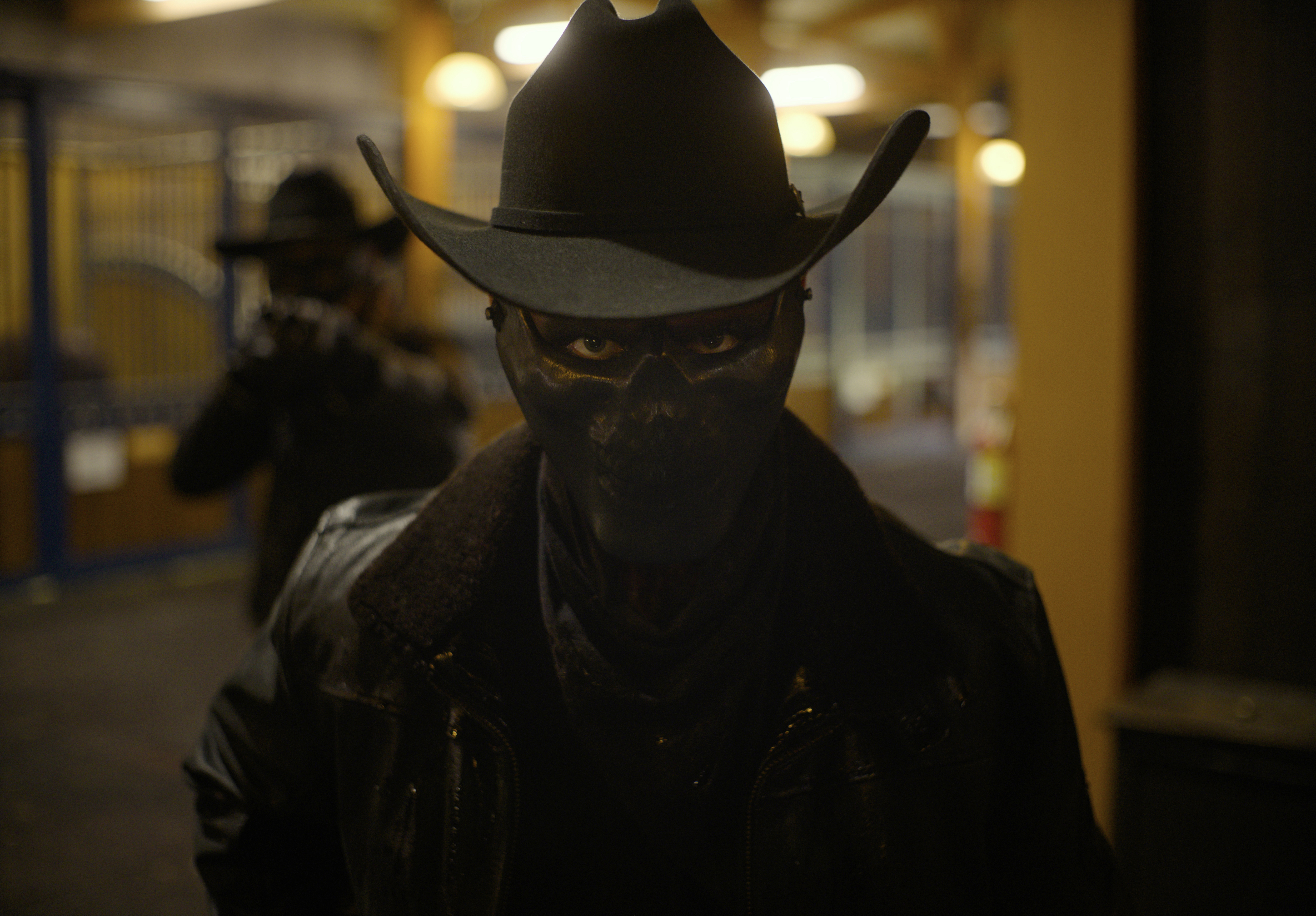 A masked Purger in The Forever Purge, directed by Everardo Gout.