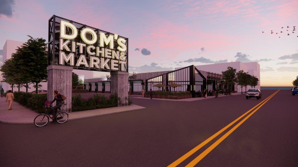 A CGI rendering of a market.