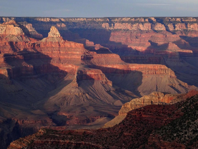 大峡谷的看法在日落的