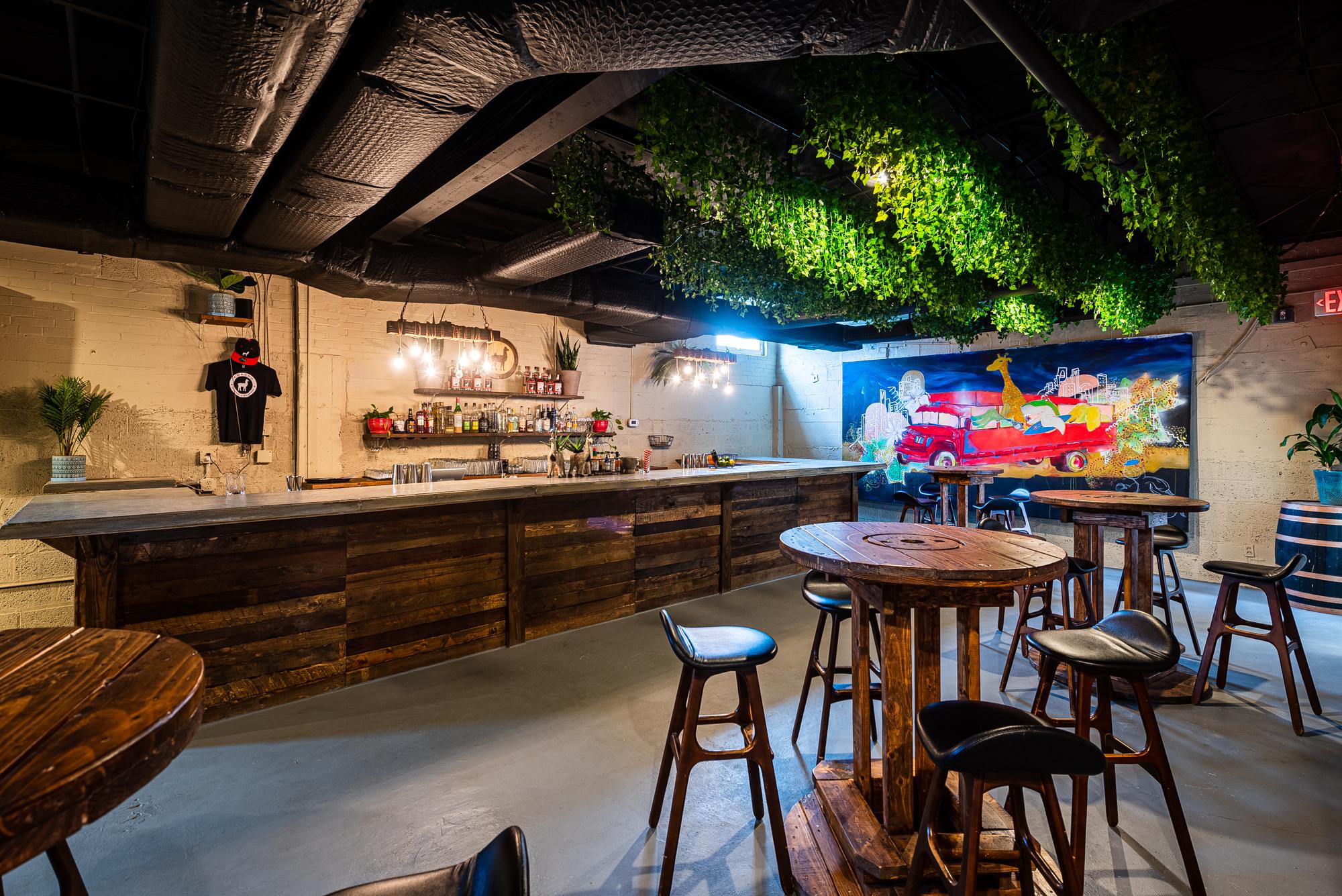 The bar at Chacho's new production facility