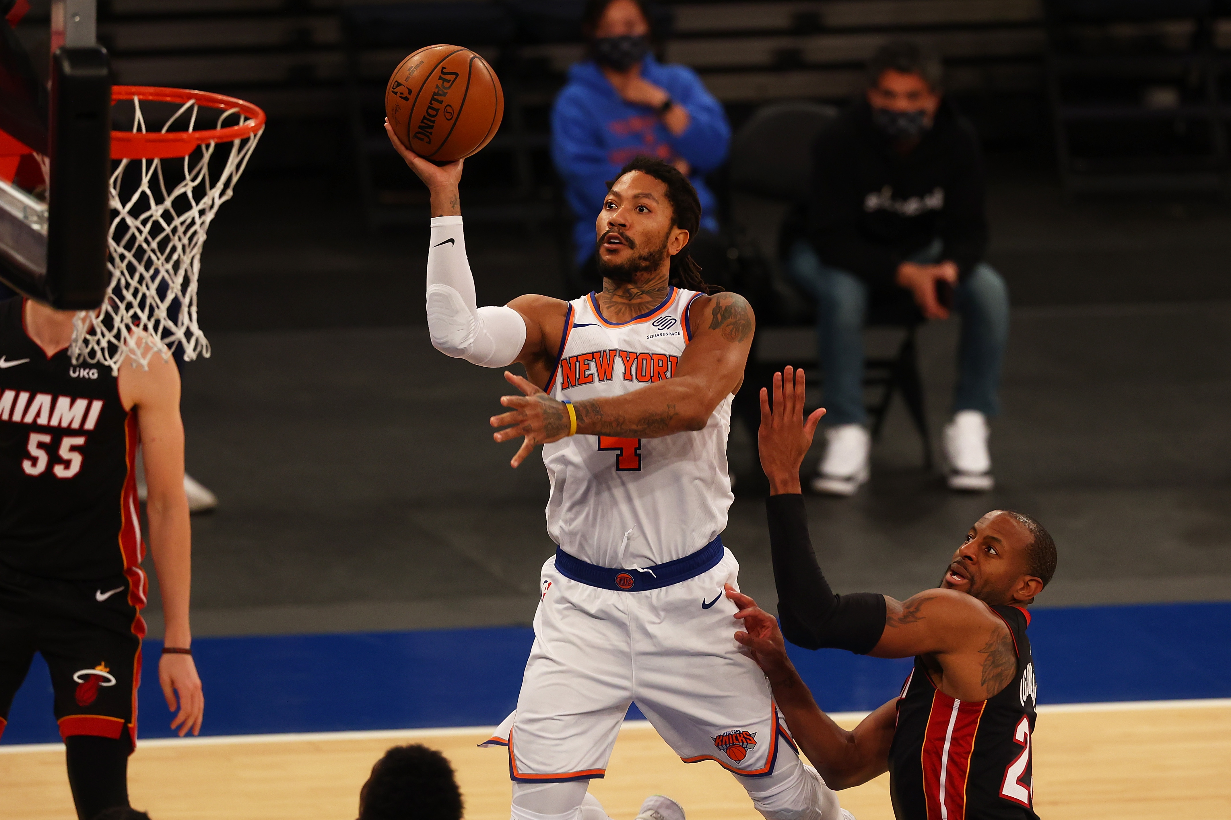 Derrick Rose has helped turn around the Knicks, who haven't made the playoffs since 2013.
