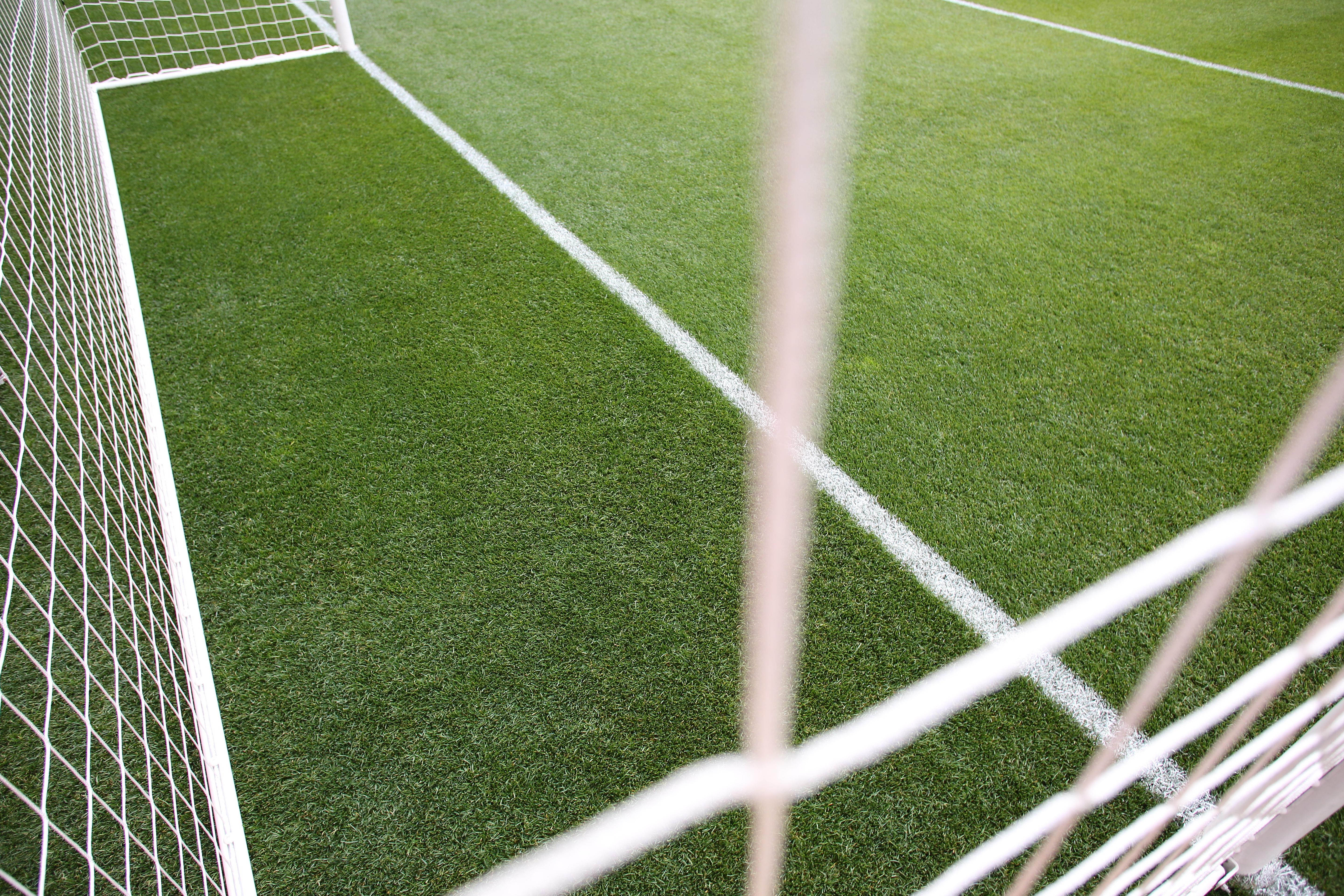 A generic image of a professional soccer goal