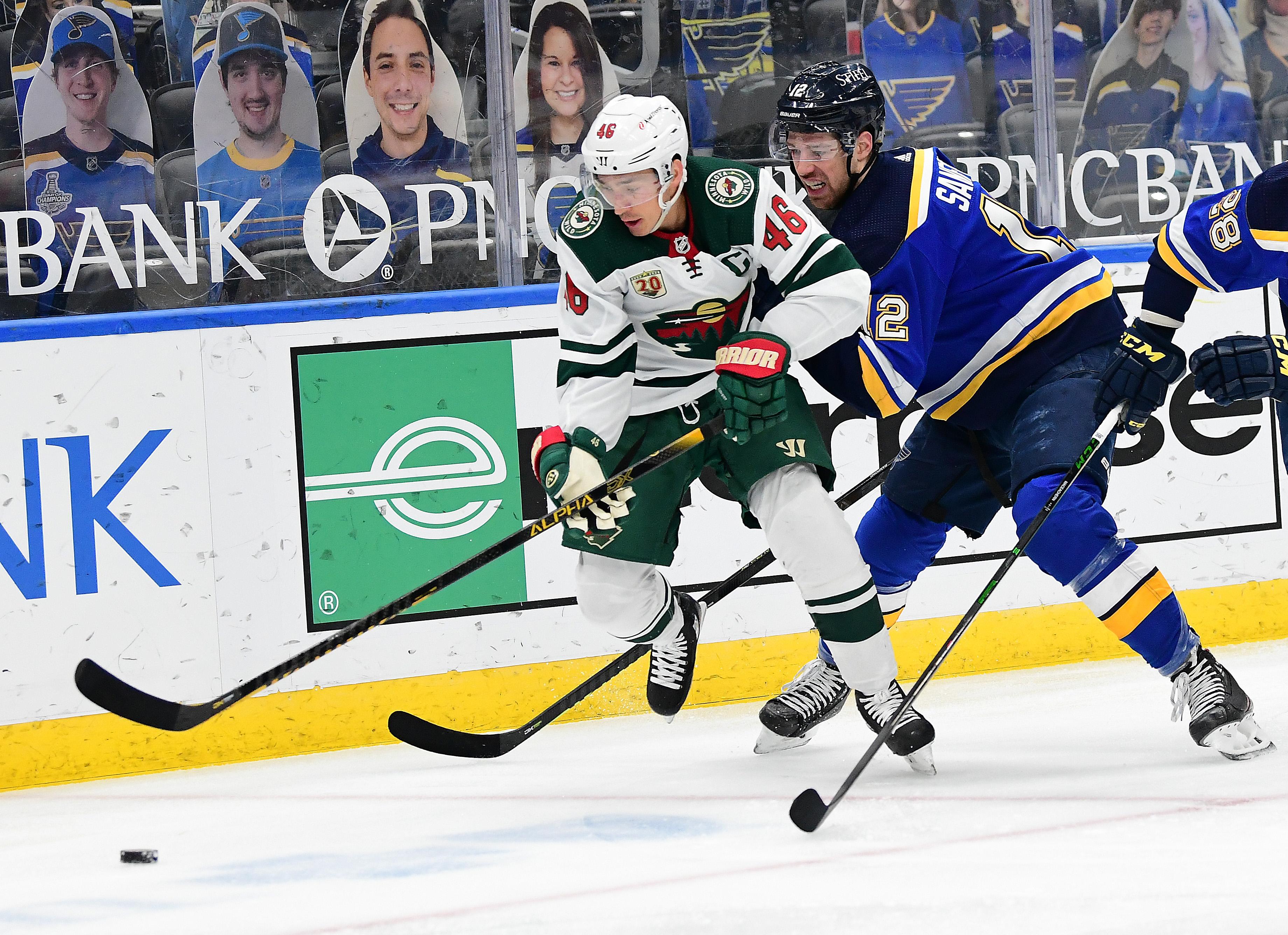 NHL: MAY 12 Wild at Blues