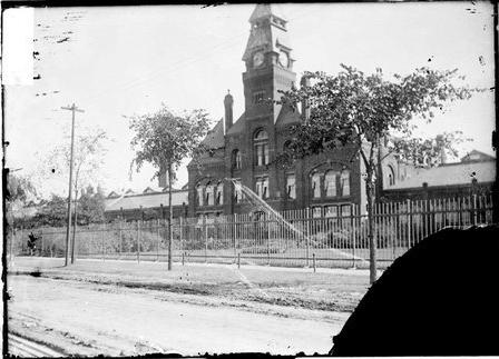 Pullman Car Works clocktower in 1919