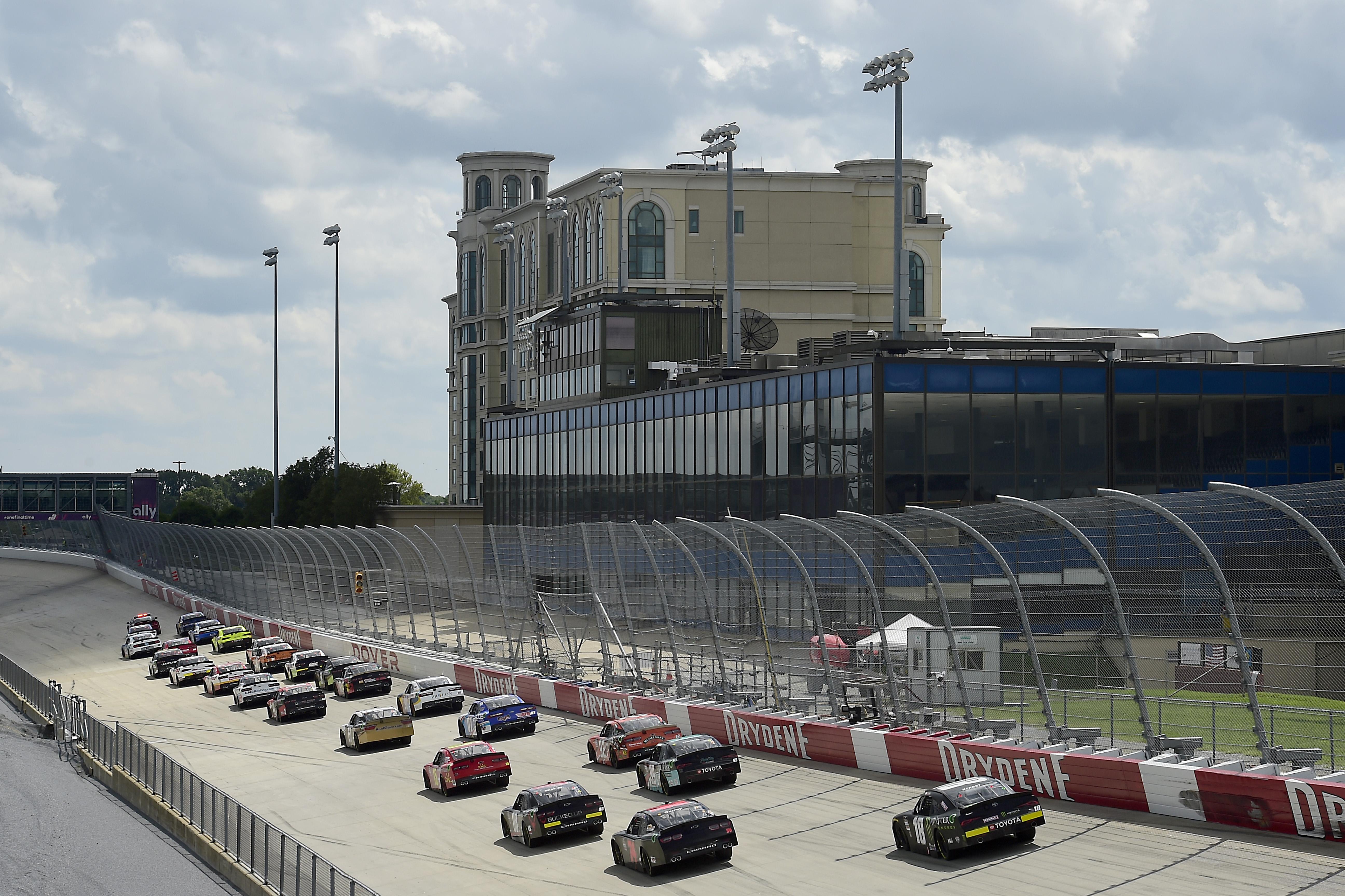 2020年8月23日,在特拉华州多佛举行的纳斯卡Xfinity系列Drydene 200国际赛车场上的赛车比赛。乐动体育网站1.0
