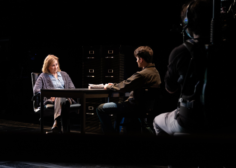 "Mary Beth Fisherstars as BellaandJohn Dreaportrays Christopher inAdam Rapp's ""The Sound Inside"" directed by Robert Falls at Goodman Theatre."