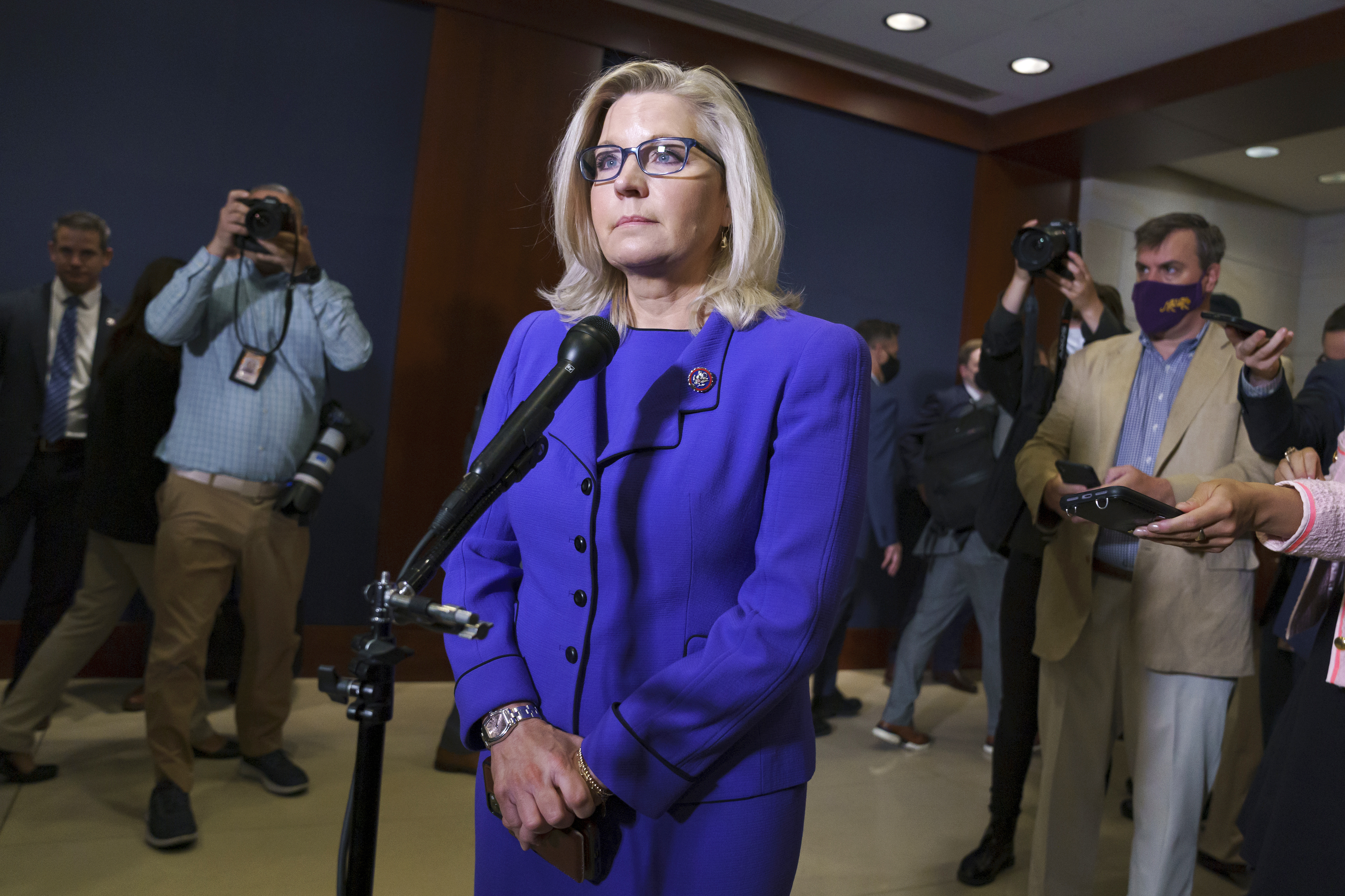 Rep. Liz Cheney was ousted from her Republican leadership post.