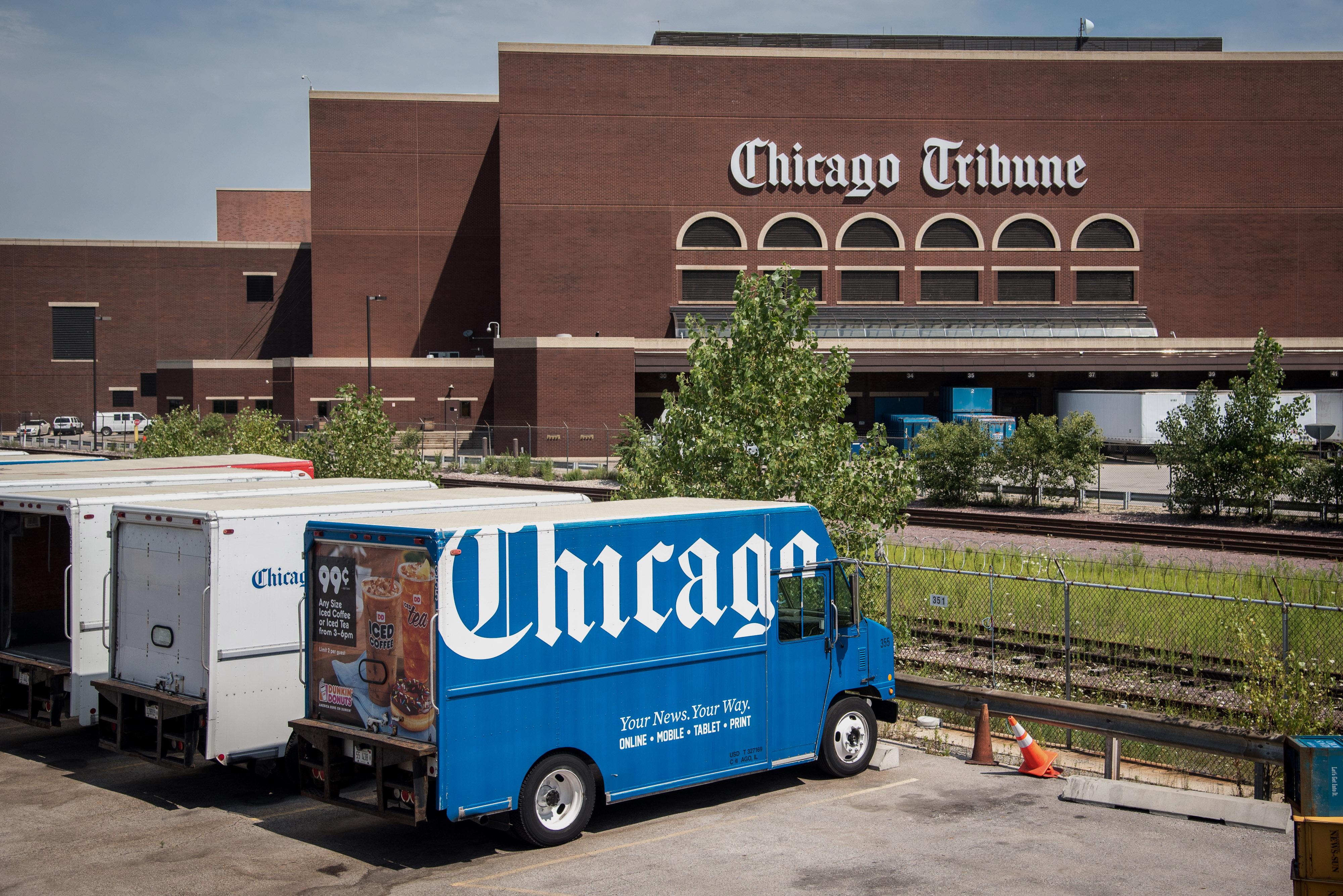 The Chicago Tribune Building Ahead Of Tribune Media Co. Earnings Figures