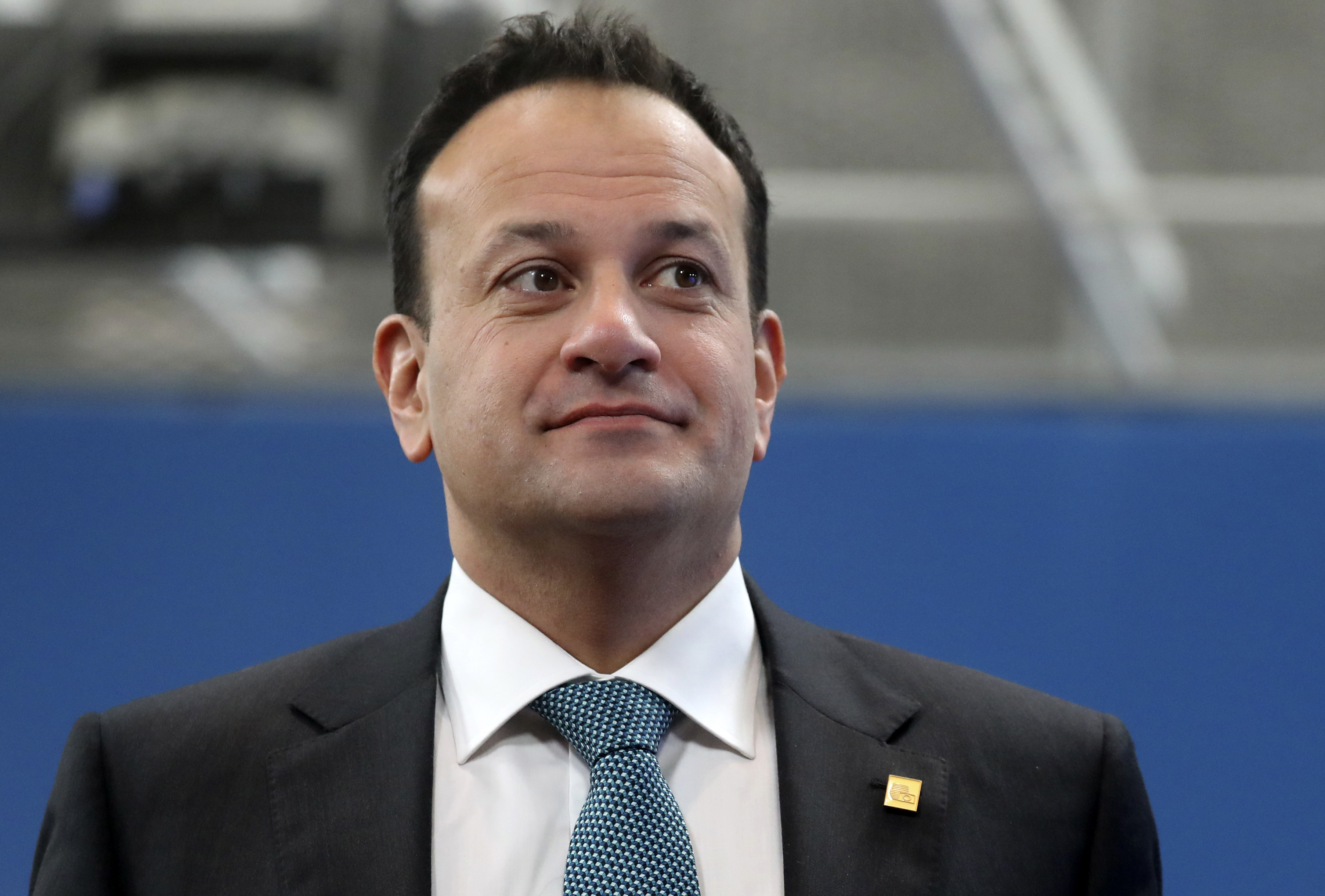 In this Friday, Feb. 21, 2020 file photo, Irish Prime Minister Leo Varadkar arrives for an EU summit at the European Council building in Brussels.