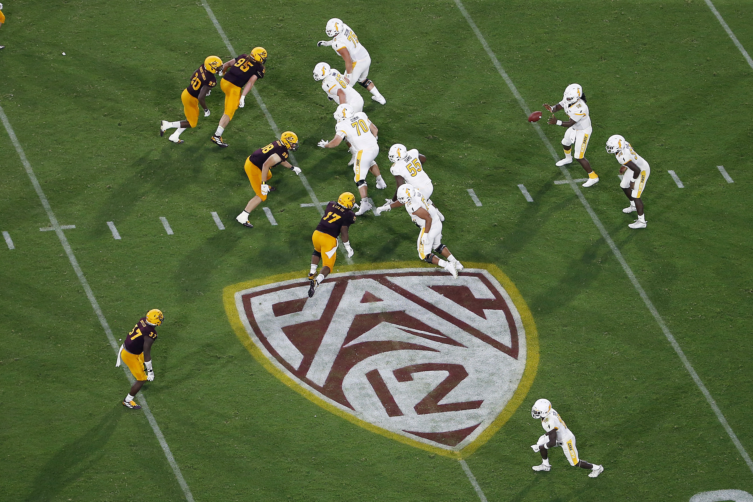 Arizona State and Kent State play in Tempe, Ariz.  on Aug. 29, 2019. George Kliavkoff is the new commissioner of the Pac-12.