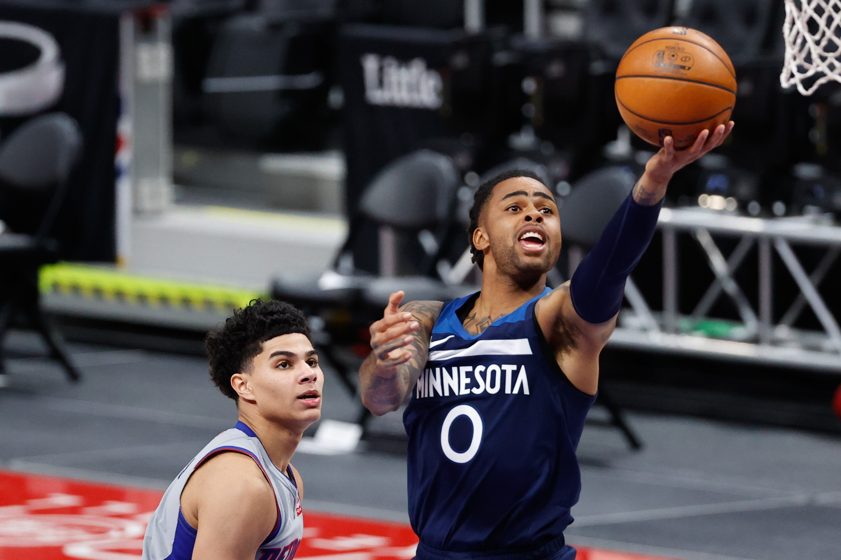 NBA:Minnesota Timberwolves在底特律活塞