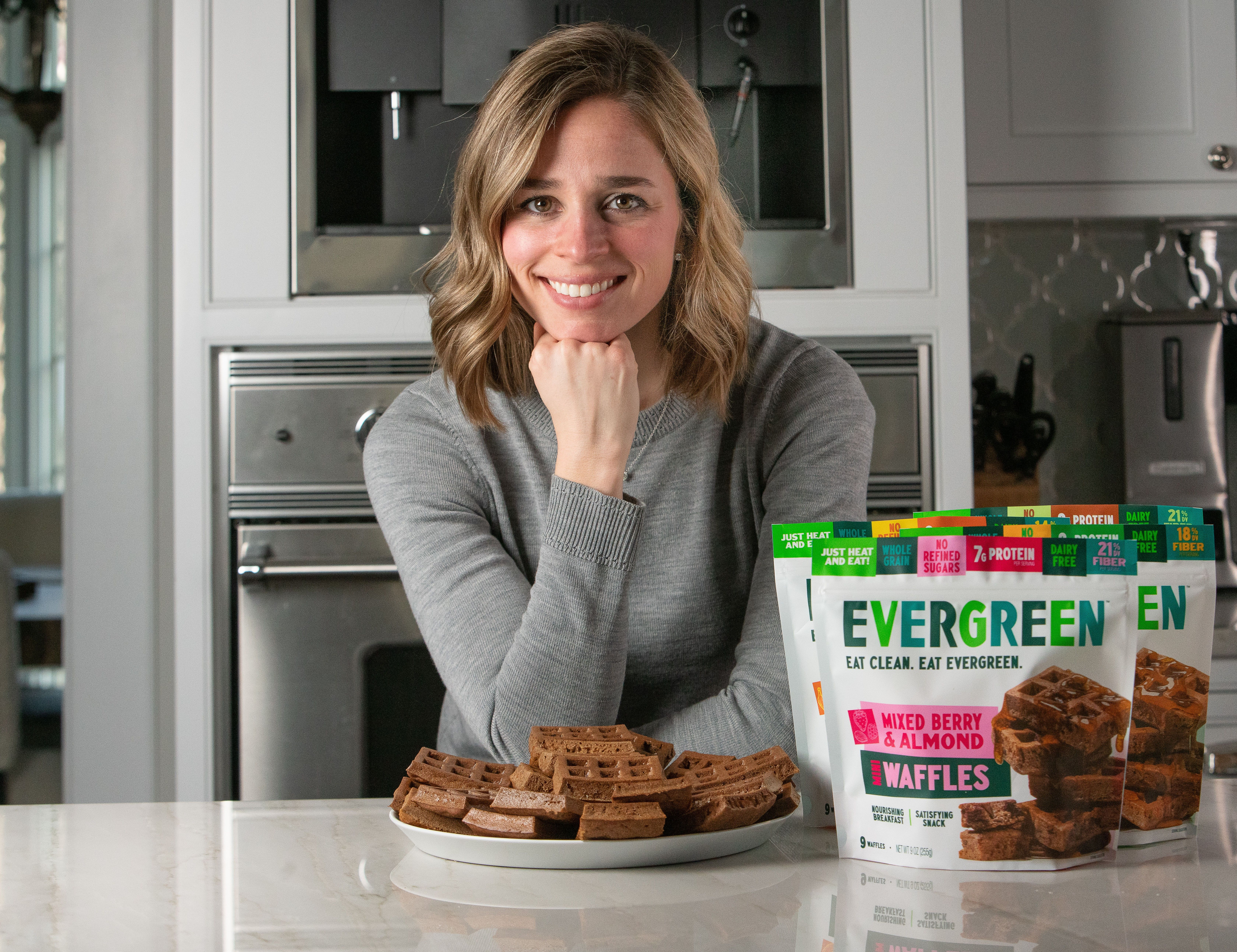 Emily Groden, Chief Executive Officer and founder of Evergreen, a new Chicago-based healthy frozen waffle company.