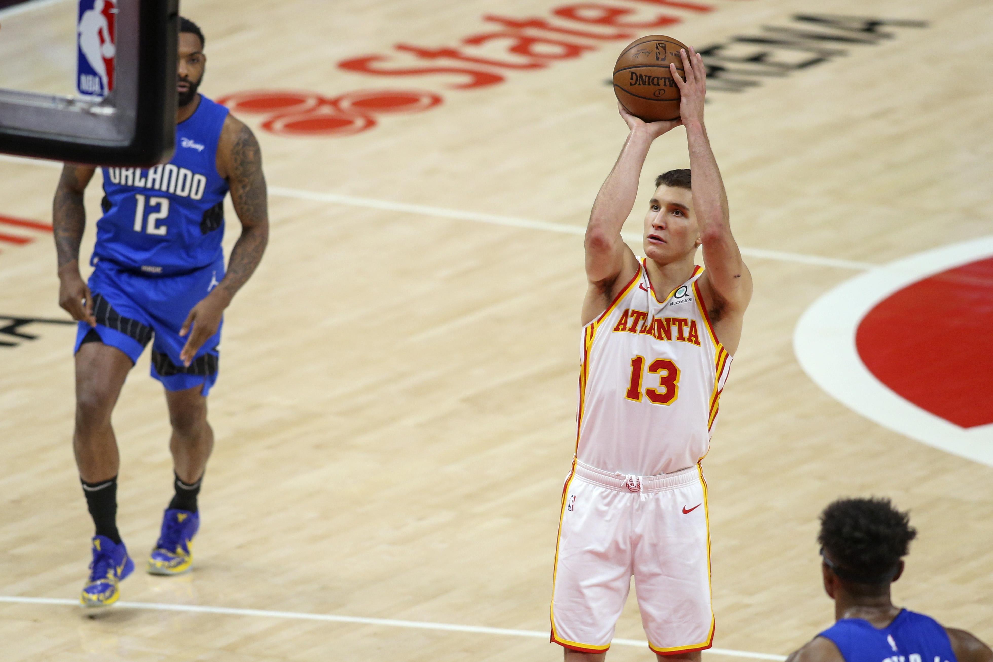 NBA:奥兰多魔术对阵亚特兰大老鹰