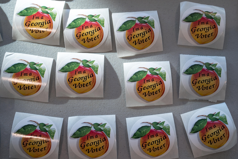 在关键的参议院决选中,格鲁吉亚人参加投票