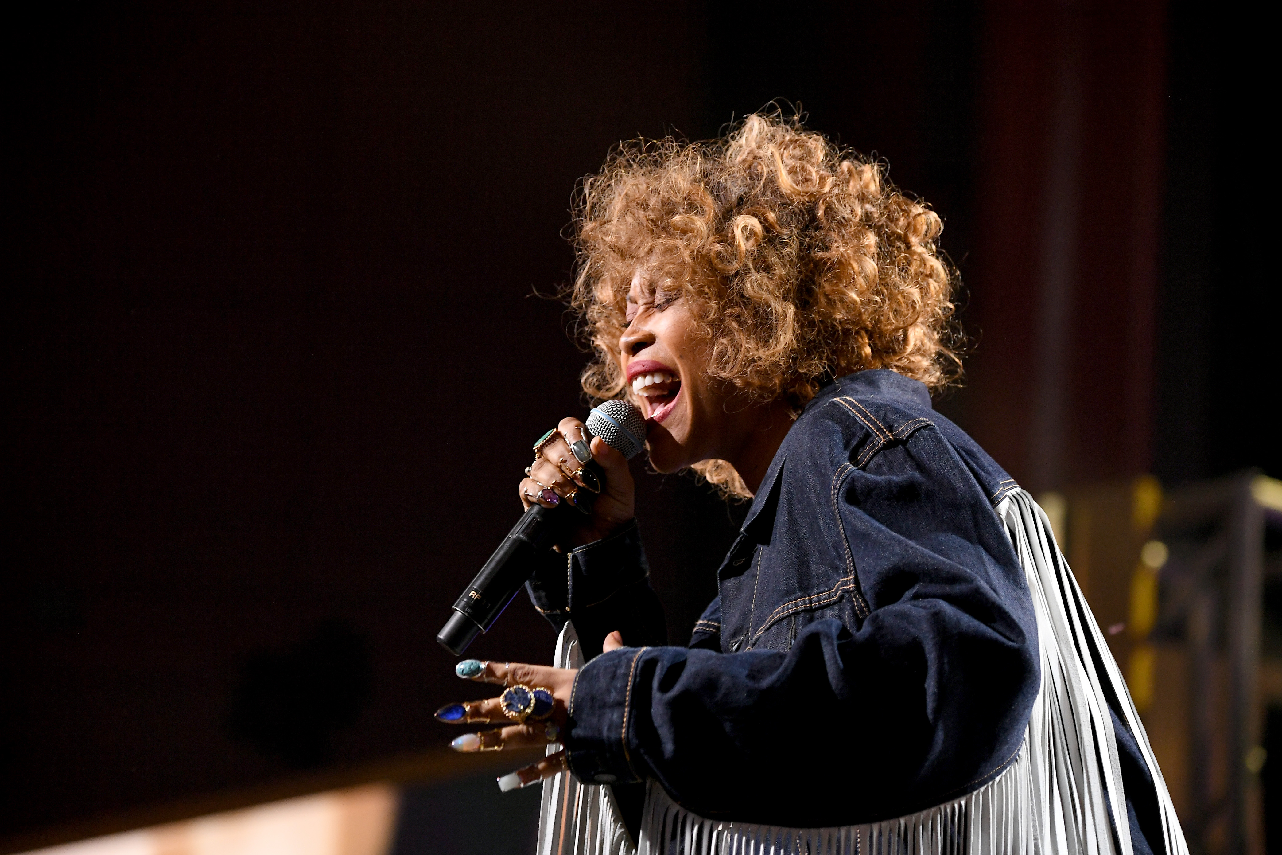 Erykah Badu performs onstage at Black Girls Rock 2019 Hosted By Niecy Nash at NJPAC on August 25, 2019 in Newark, New Jersey.