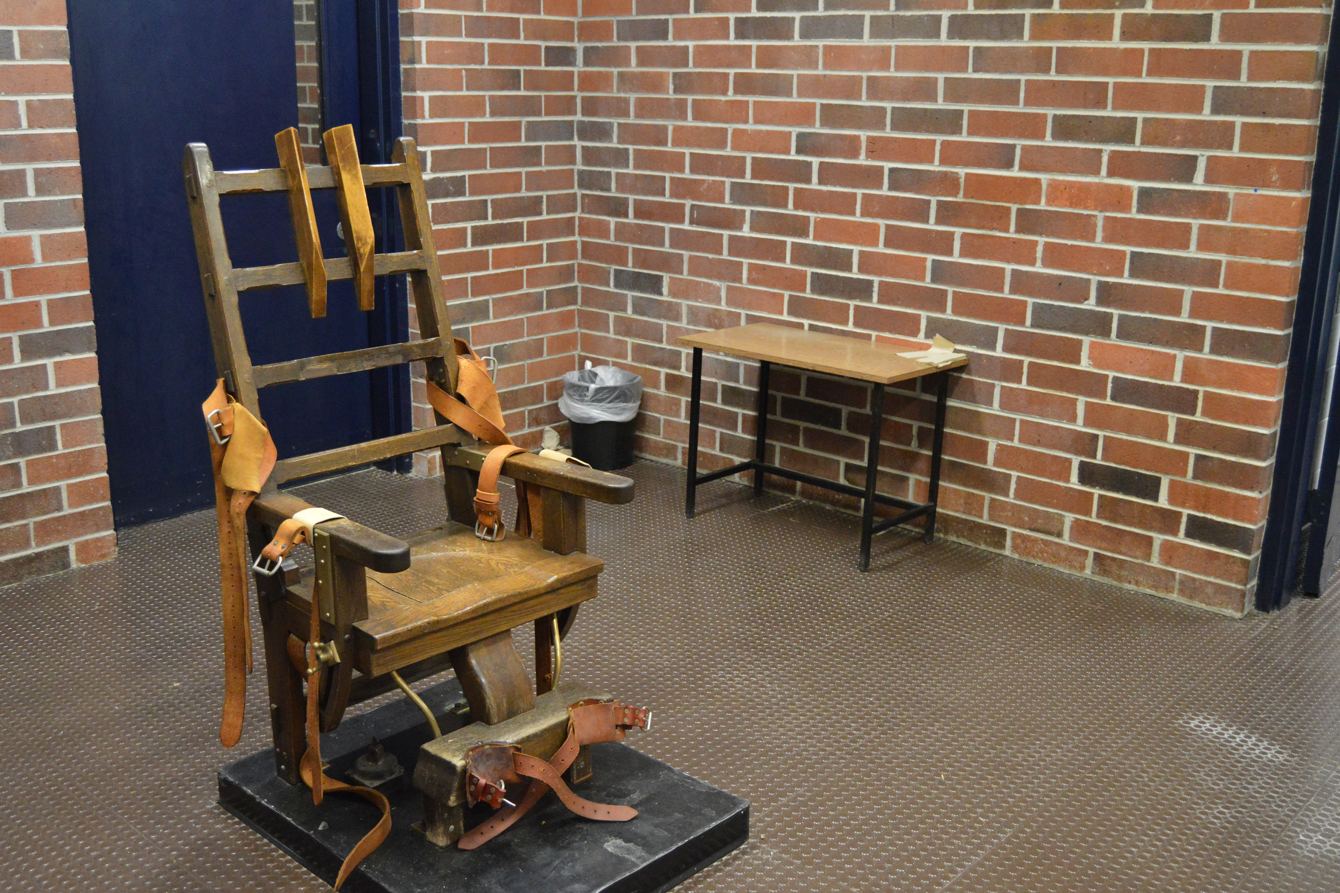 This March 2019, file photo, provided by the South Carolina Department of Corrections shows the state's electric chair in Columbia, S.C.