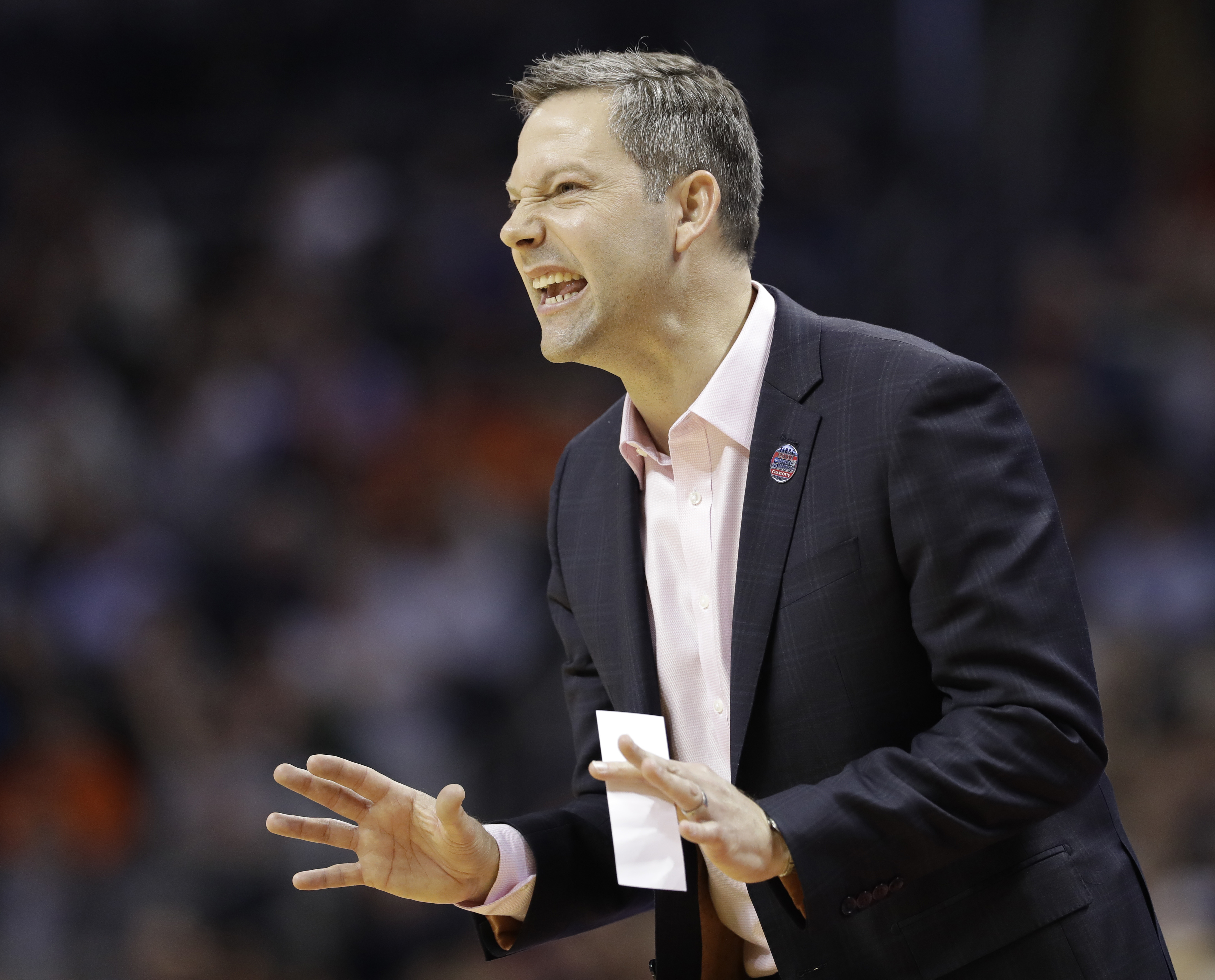 New Utah State coach Ryan Odom, shown here directing his former UMBC team vs. Virginia in an NCAA first-round game.