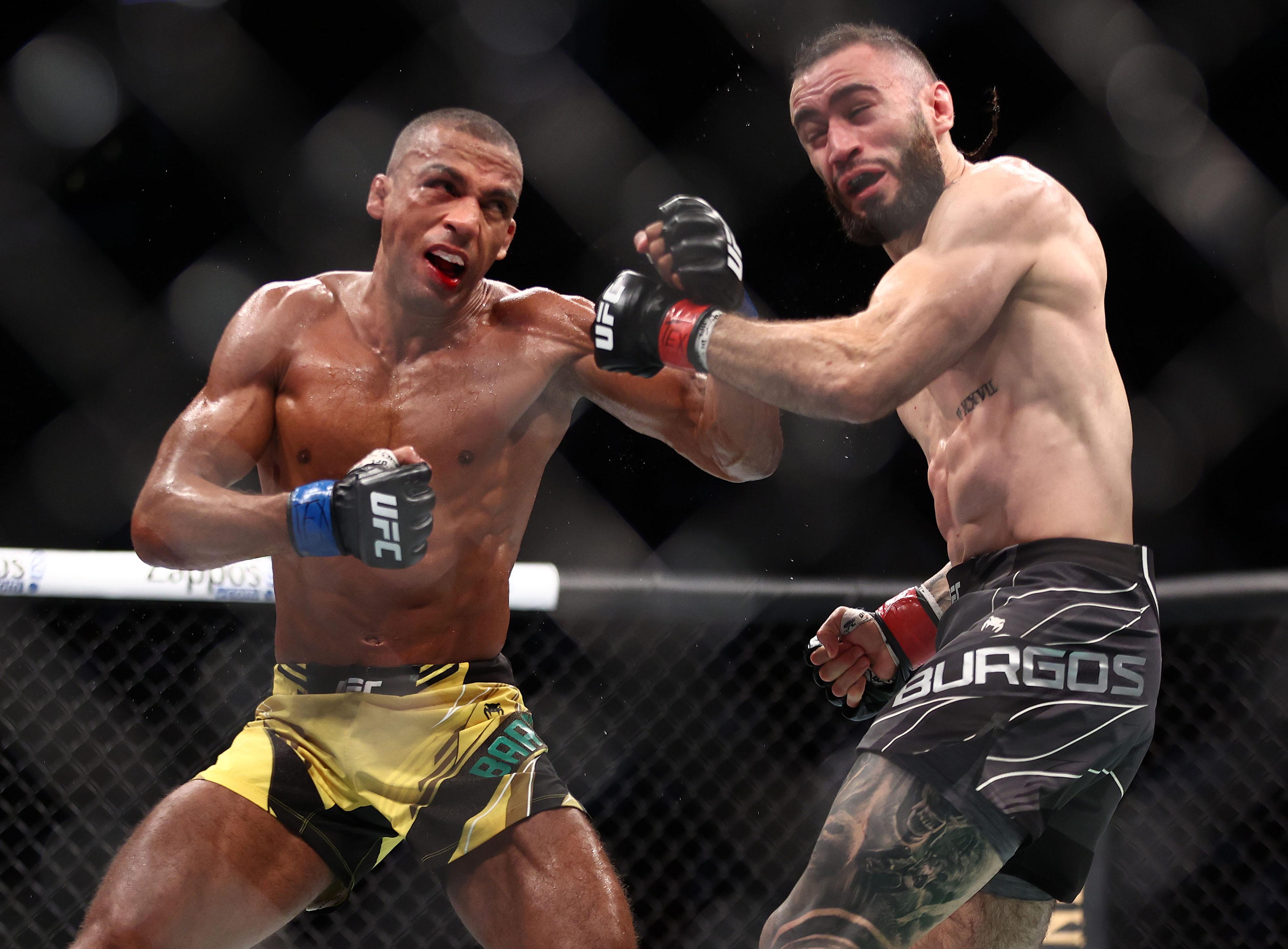 Edson Barboza knocked out Shane Burgos at UFC 262.