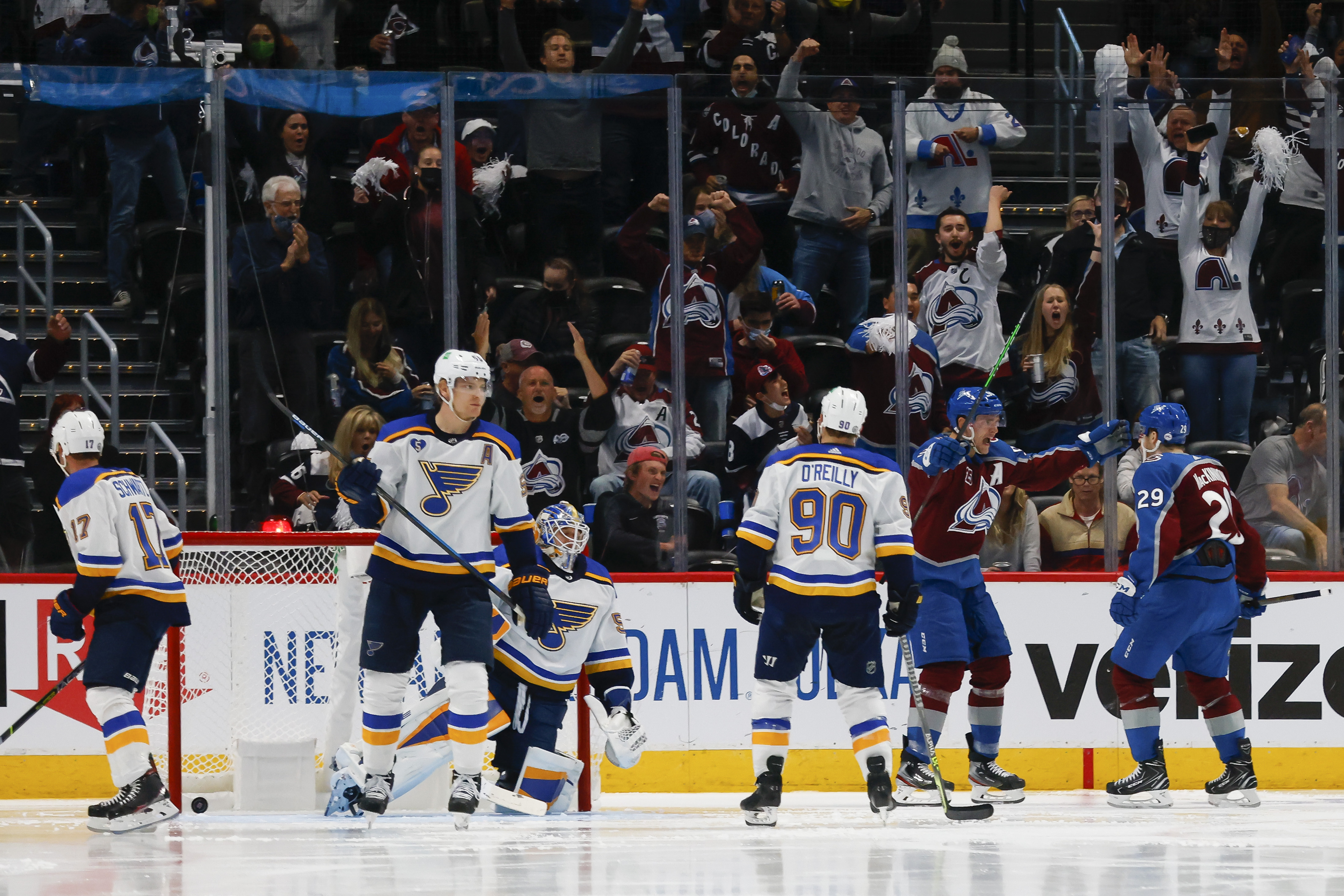 St Louis Blues v Colorado Avalanche - Game One