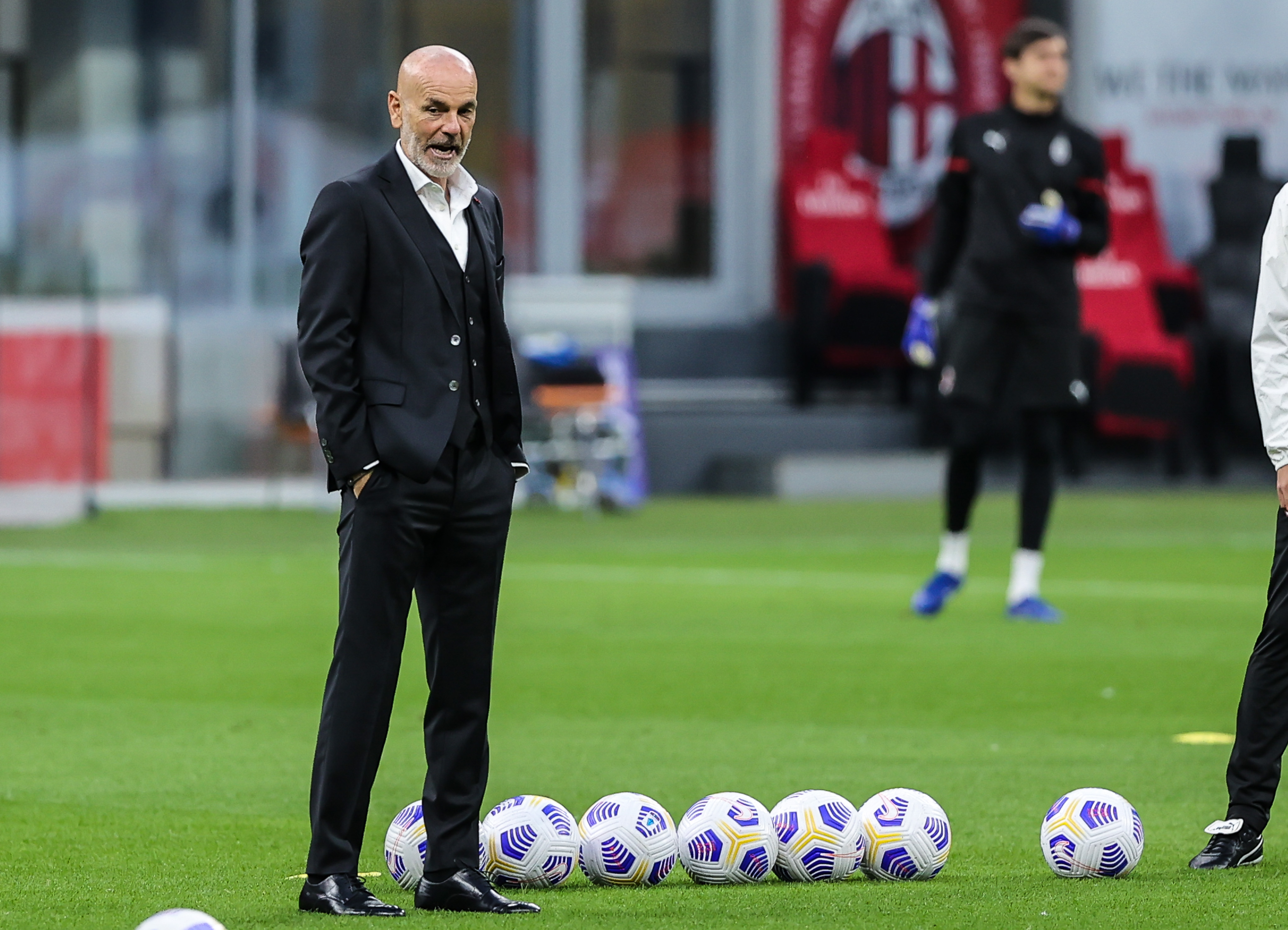 Head Coach of AC Milan Stefano Pioli during the Serie A 2020...