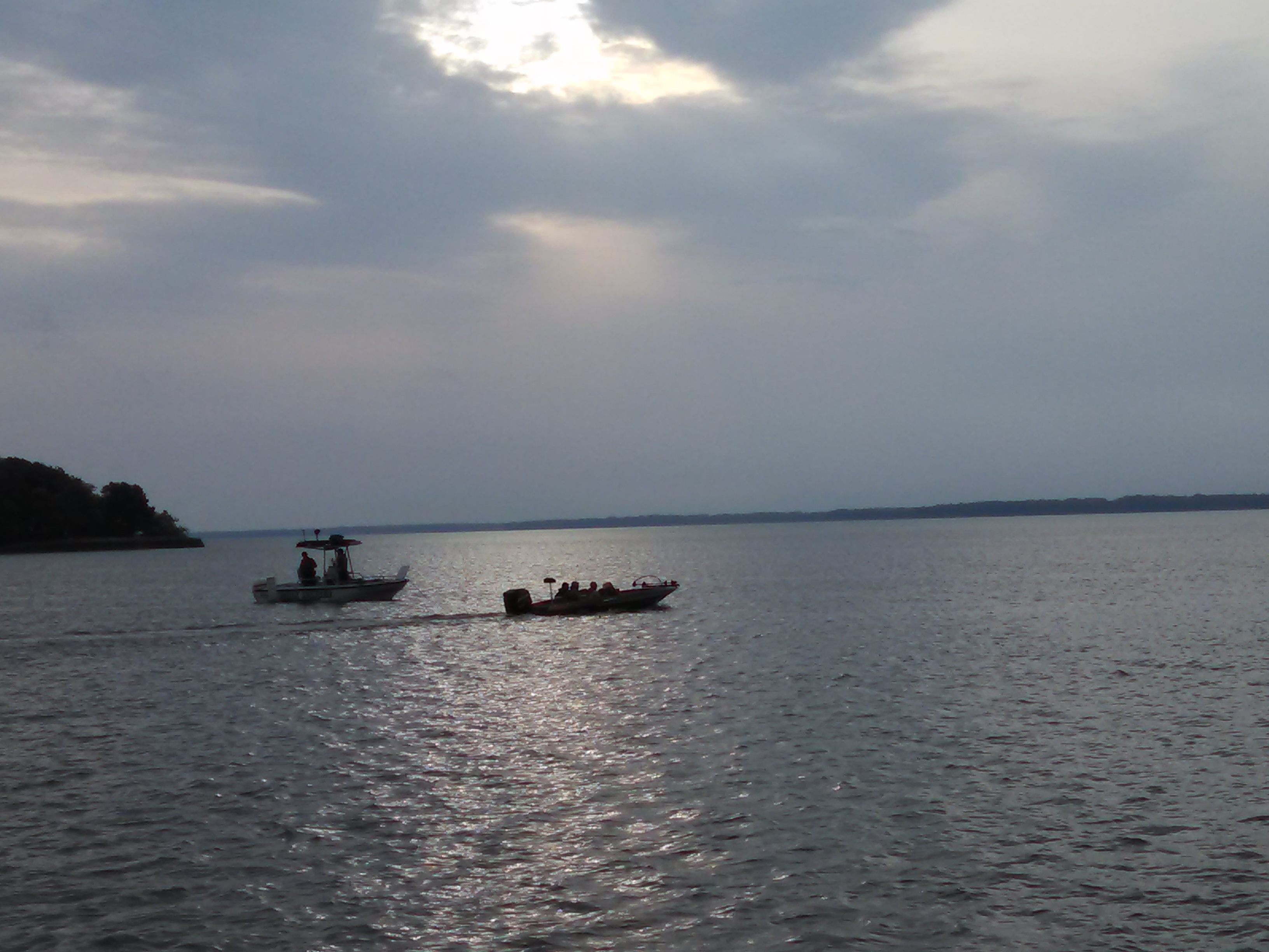 A file photo of boats preparing for the start of the state finals of the IHSA's bass fishing for high schools at Carlyle Lake. Credit: Dale Bowman