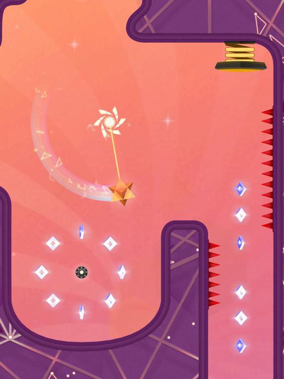 A star-shaped ball navigating through a puzzle maze