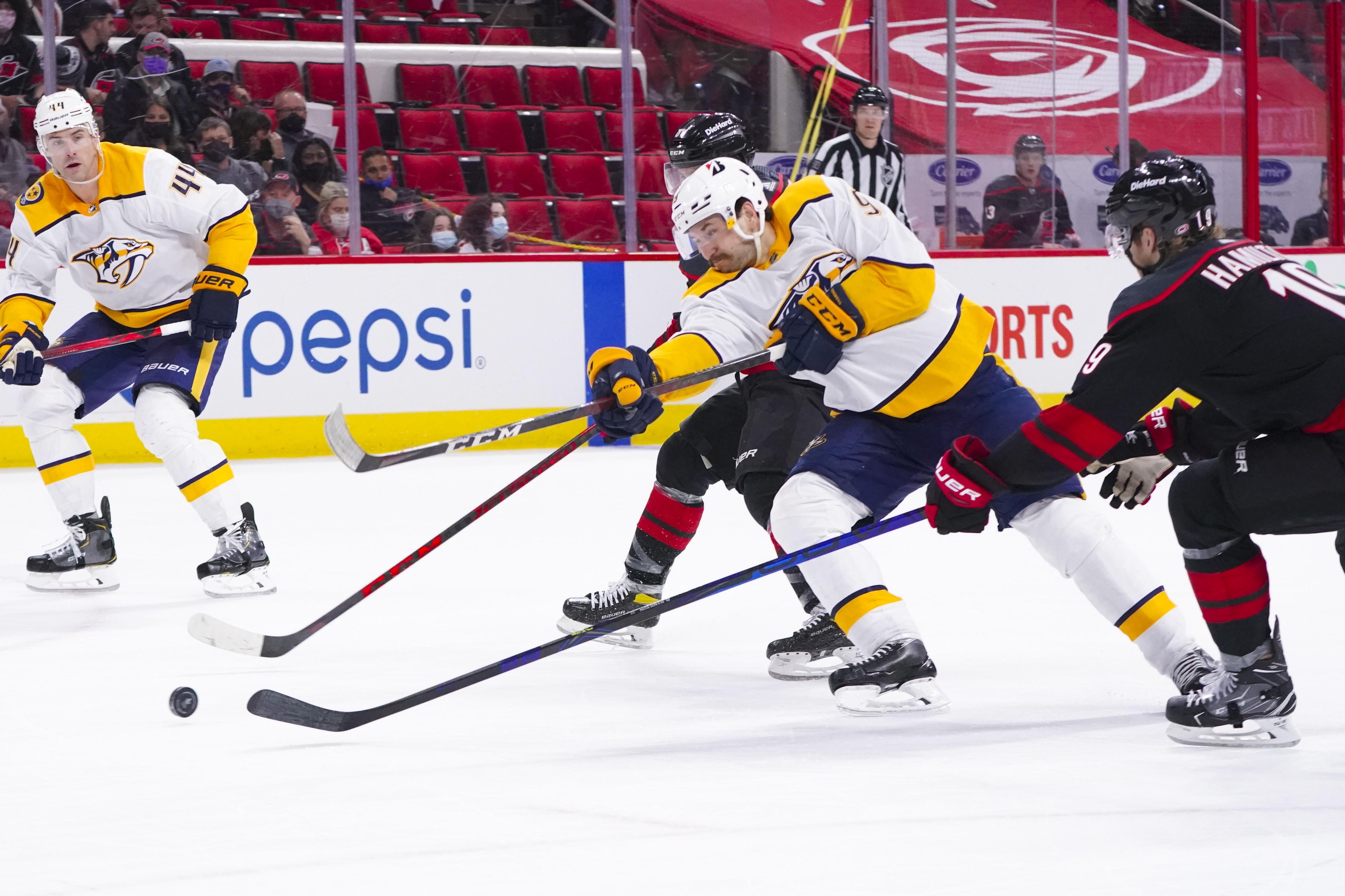 NHL: Stanley Cup Playoffs-Nashville Predators at Carolina Hurricanes
