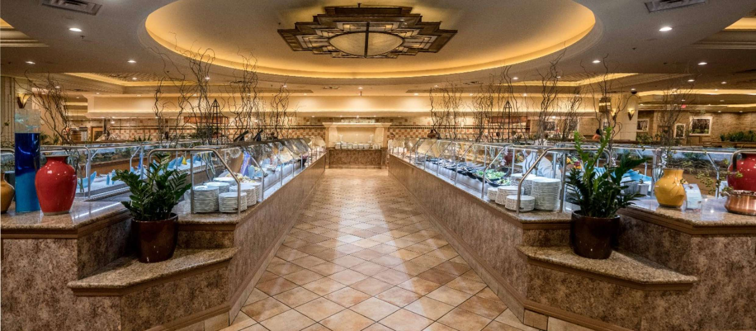 The interior of a buffet