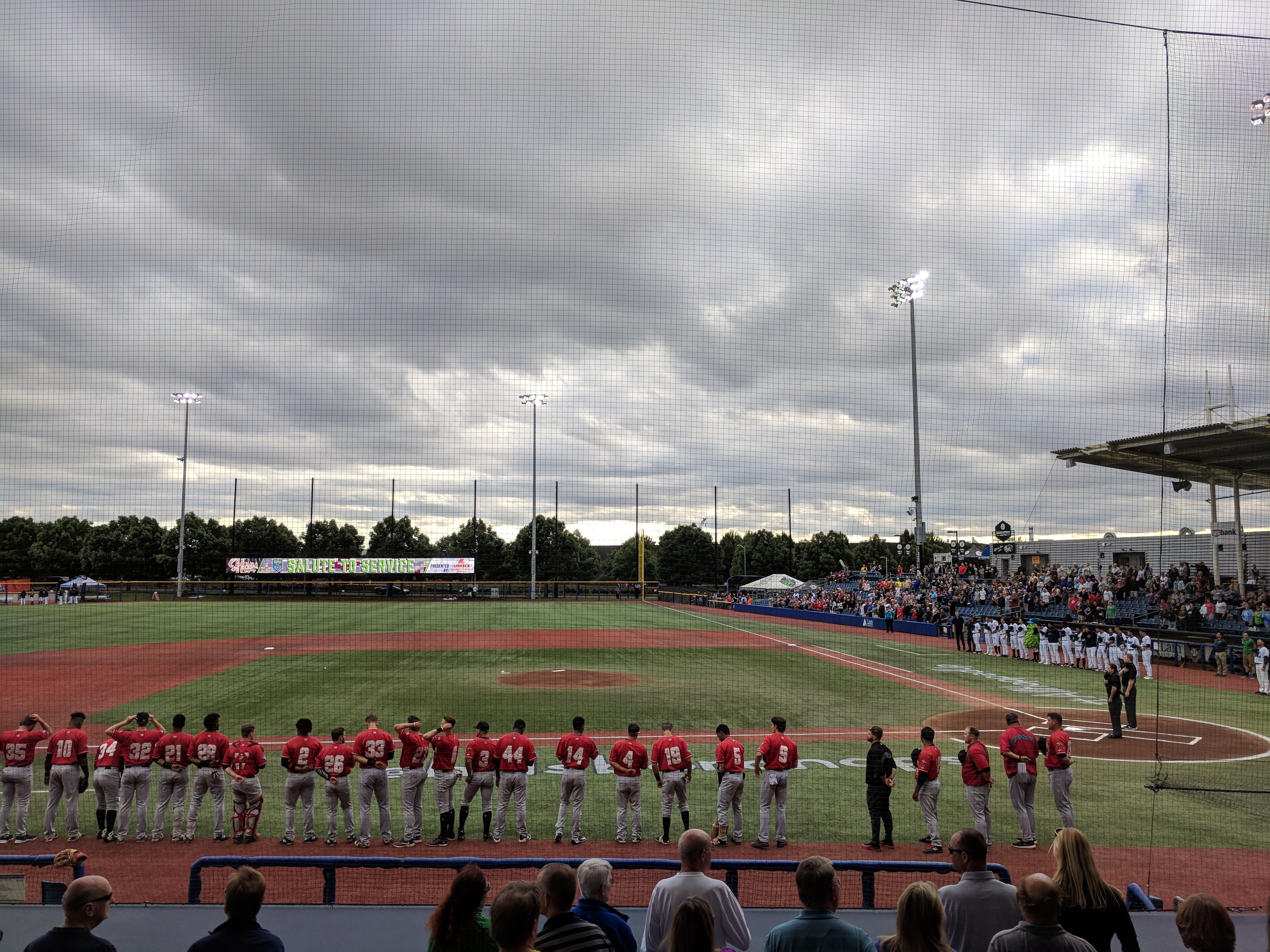 The Vancouver Canadians visiting Ron Tonkin Field in Hillsboro, Oregon on August 2, 2018.