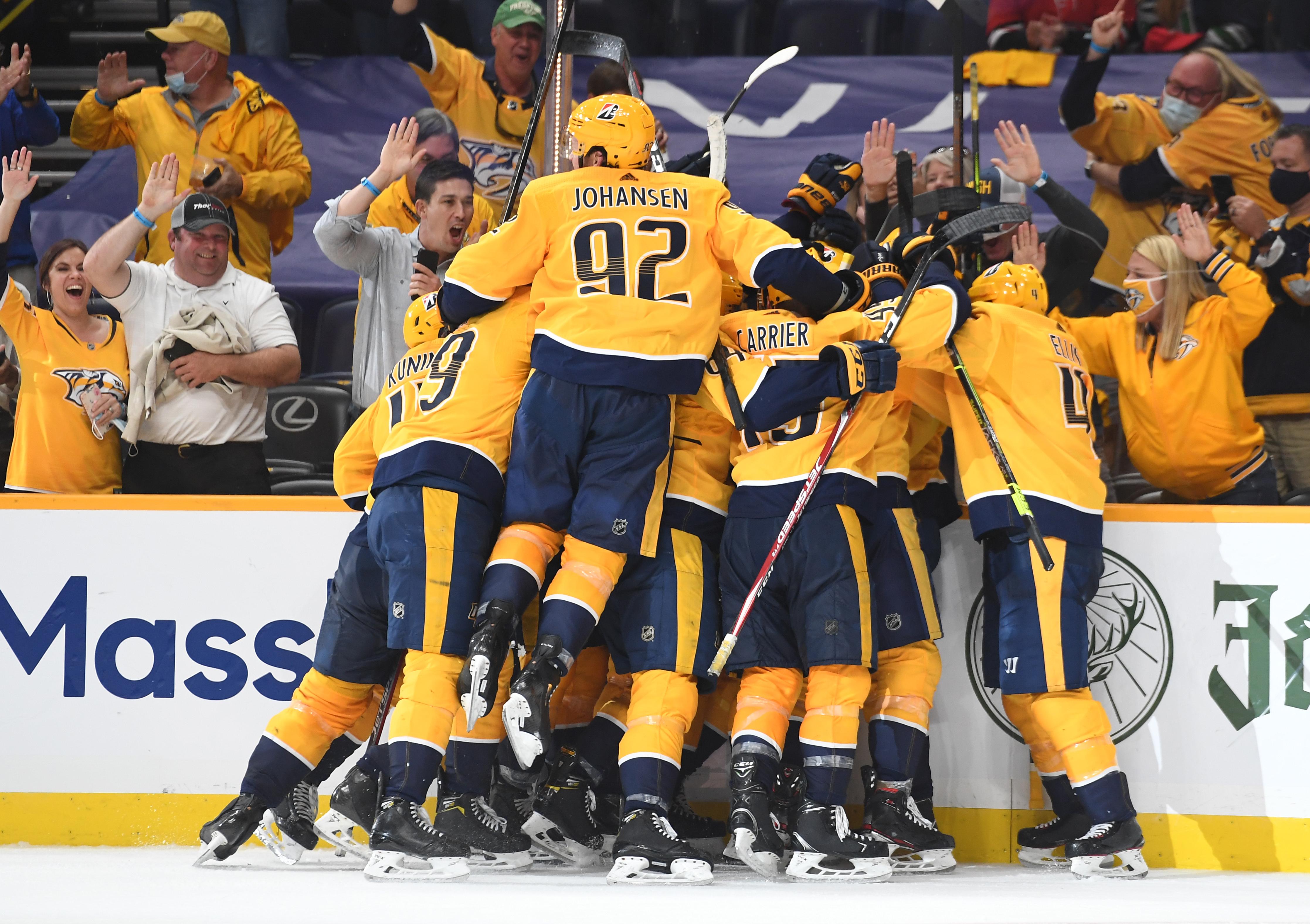 NHL: Stanley Cup Playoffs-Carolina Hurricanes at Nashville Predators