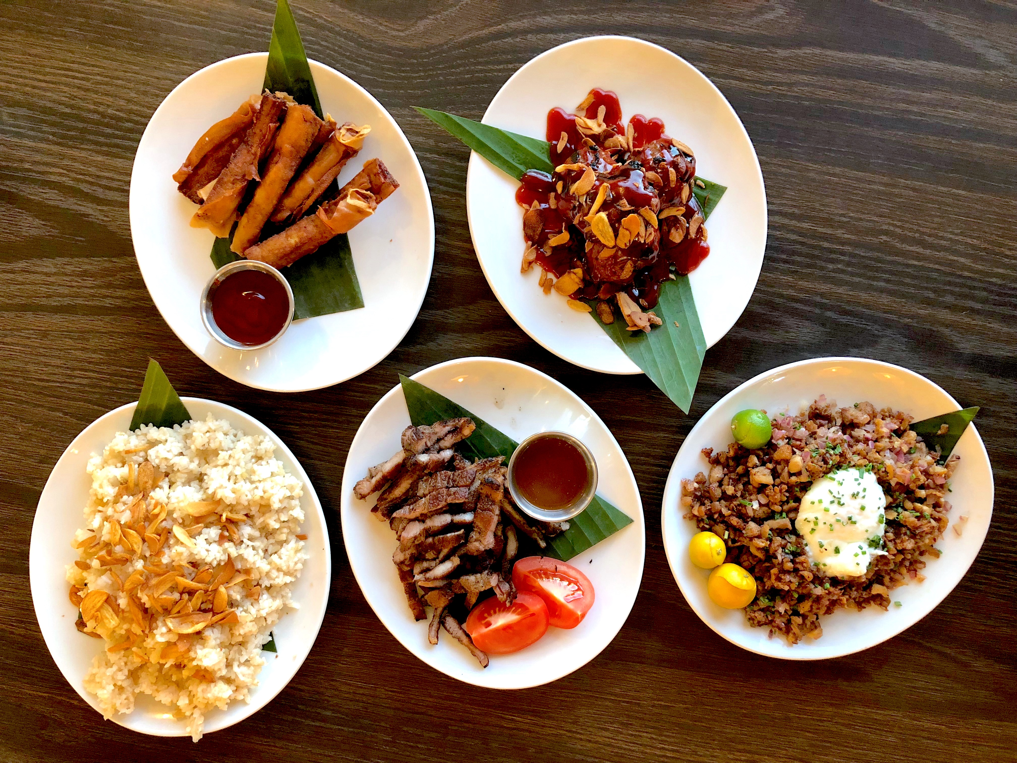 An array of Filipino dishes from Silog in Torrance