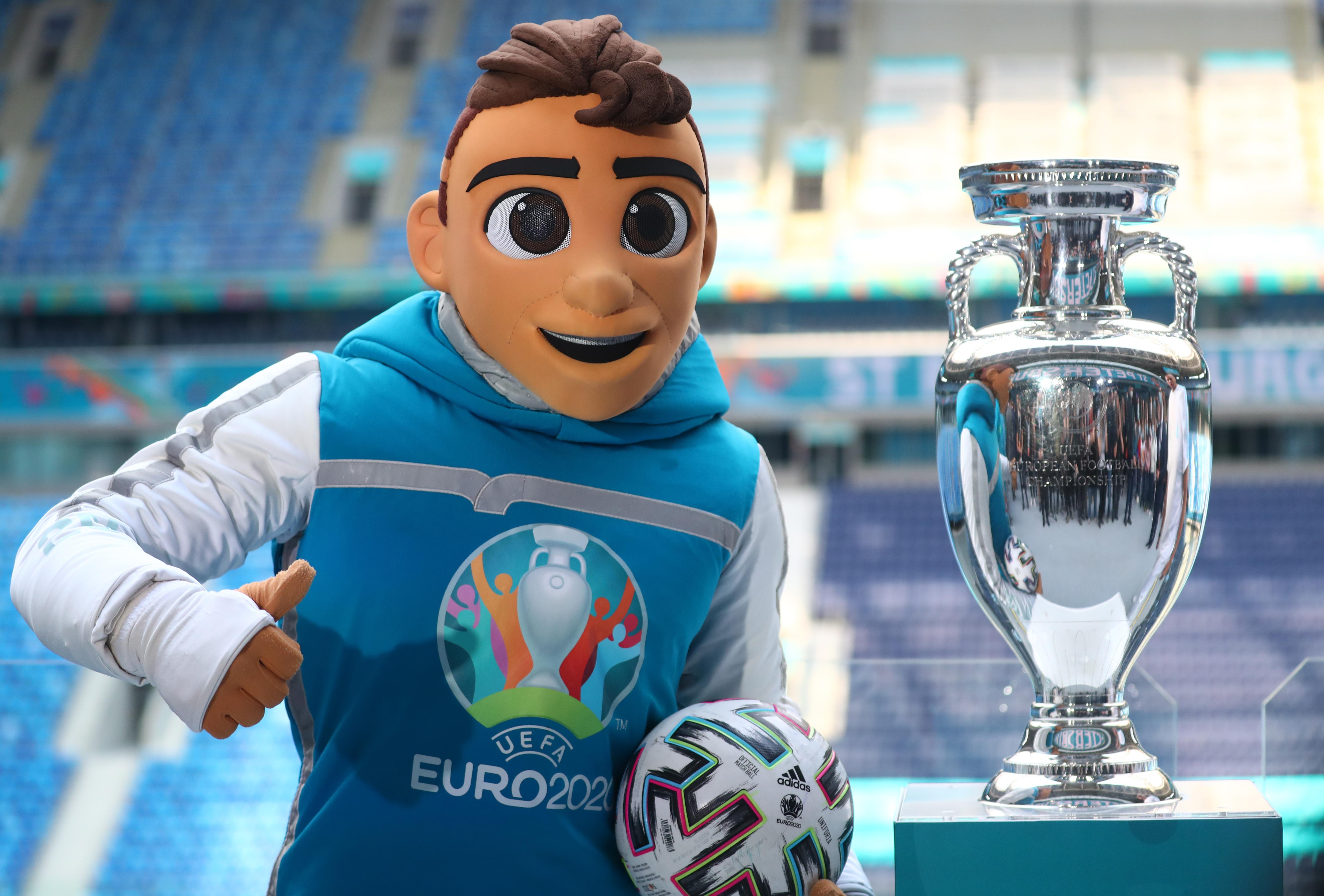 UEFA Euro 2020 trophy on display in St Petersburg, Russia