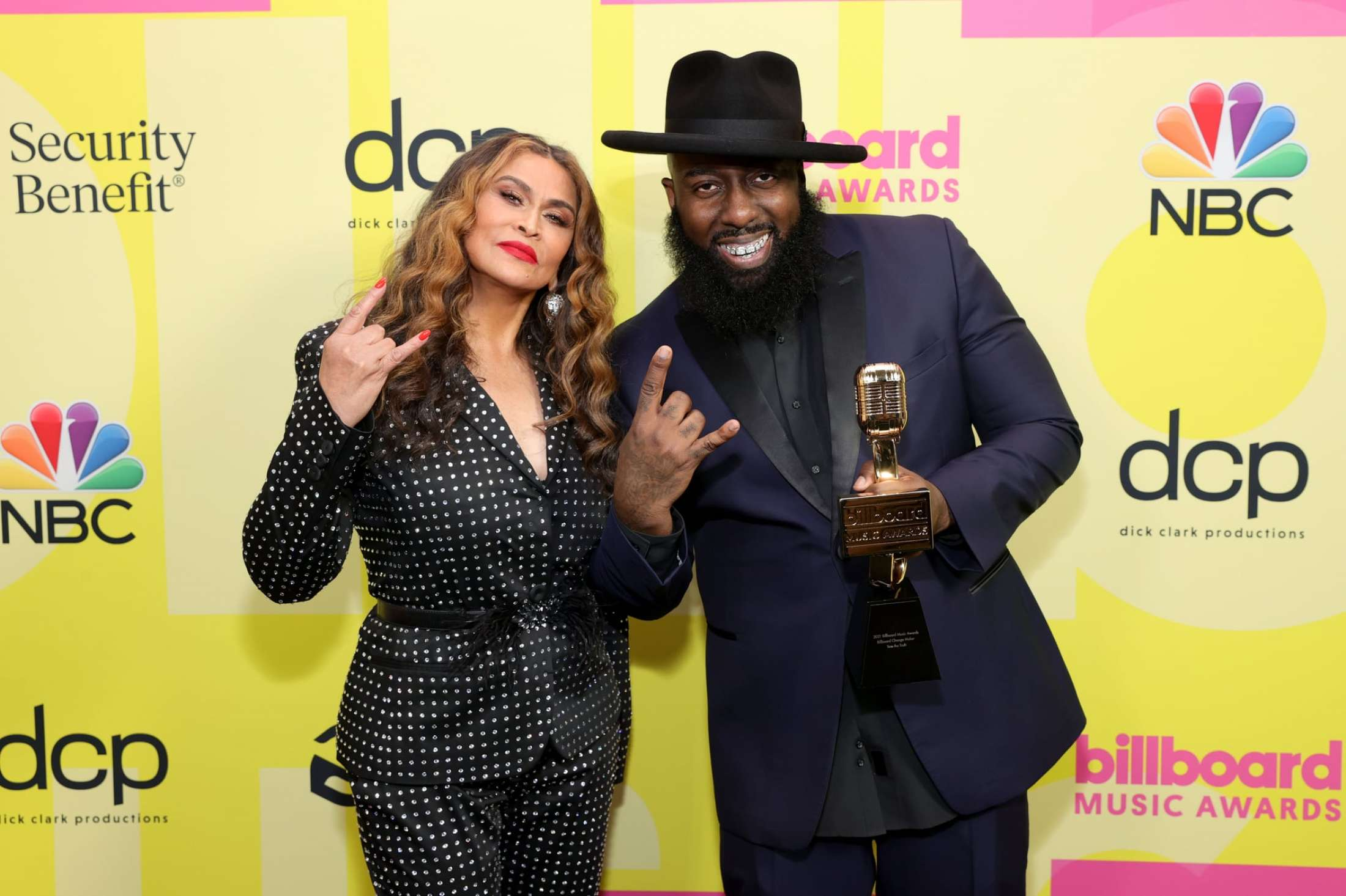 Trae Tha Truth and Tina Knowles-Lawson