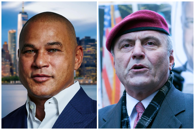 Republican mayoral candidates, (l-r) Fernando Mateo and Curtis Sliwa.