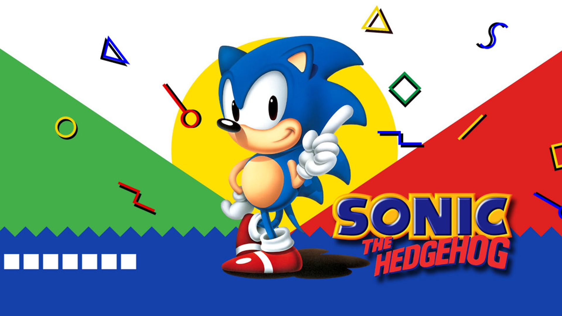 Artwork of Sonic the Hedghog from the original Sega Genesis game