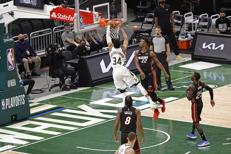 2021 NBA Playoffs - Miami Heat v Milwaukee Bucks