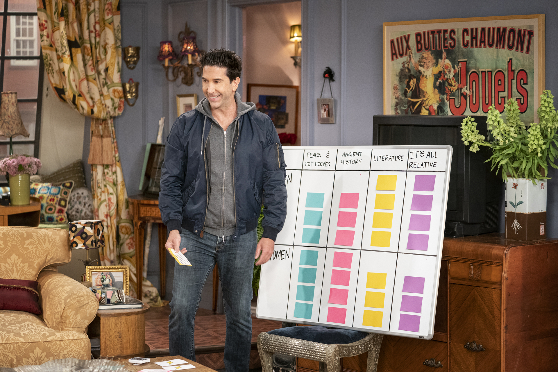 """David Schwimmer in a scene from the """"Friends"""" reunion special."""