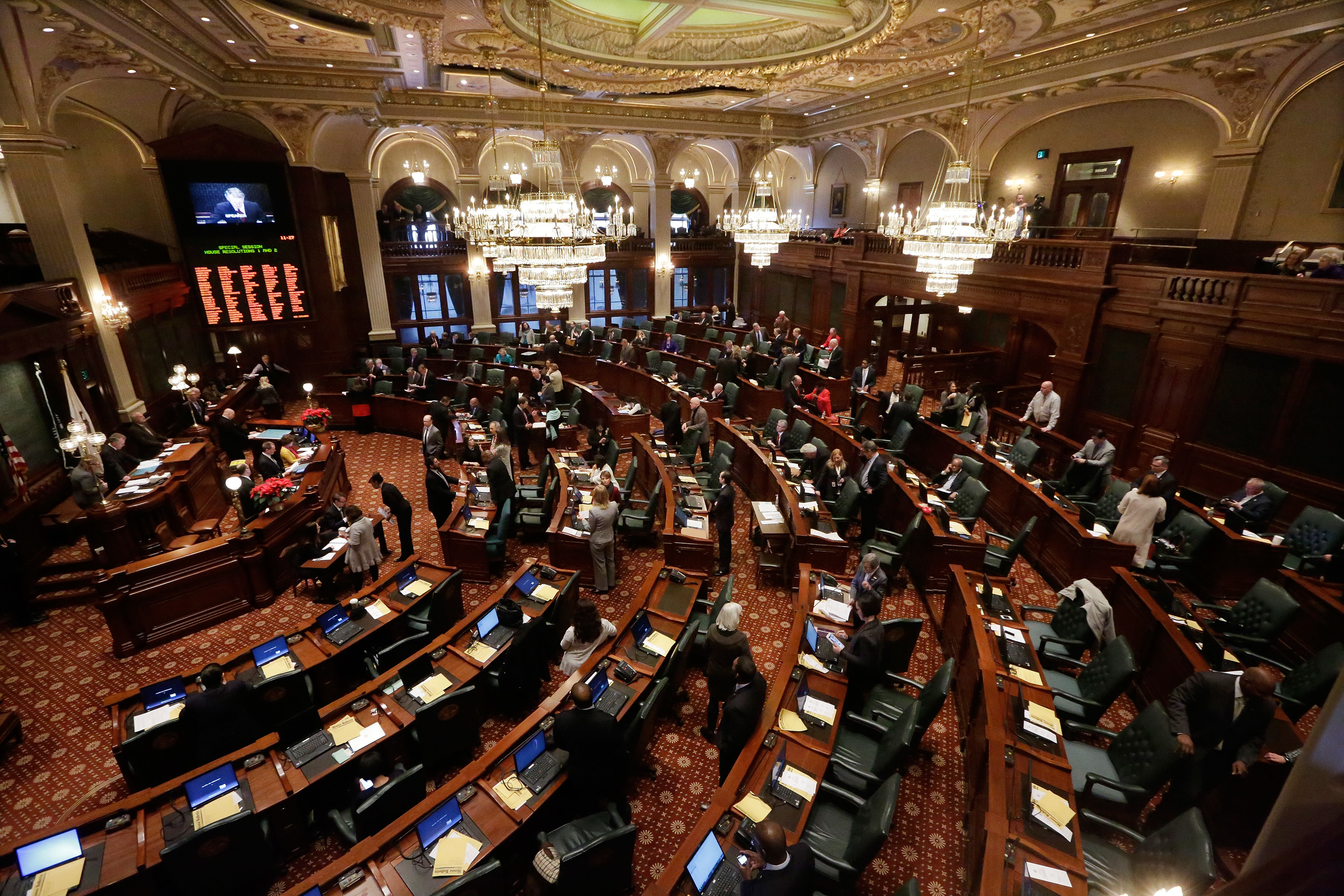 The Illinois House meets in Springfield in 2015.